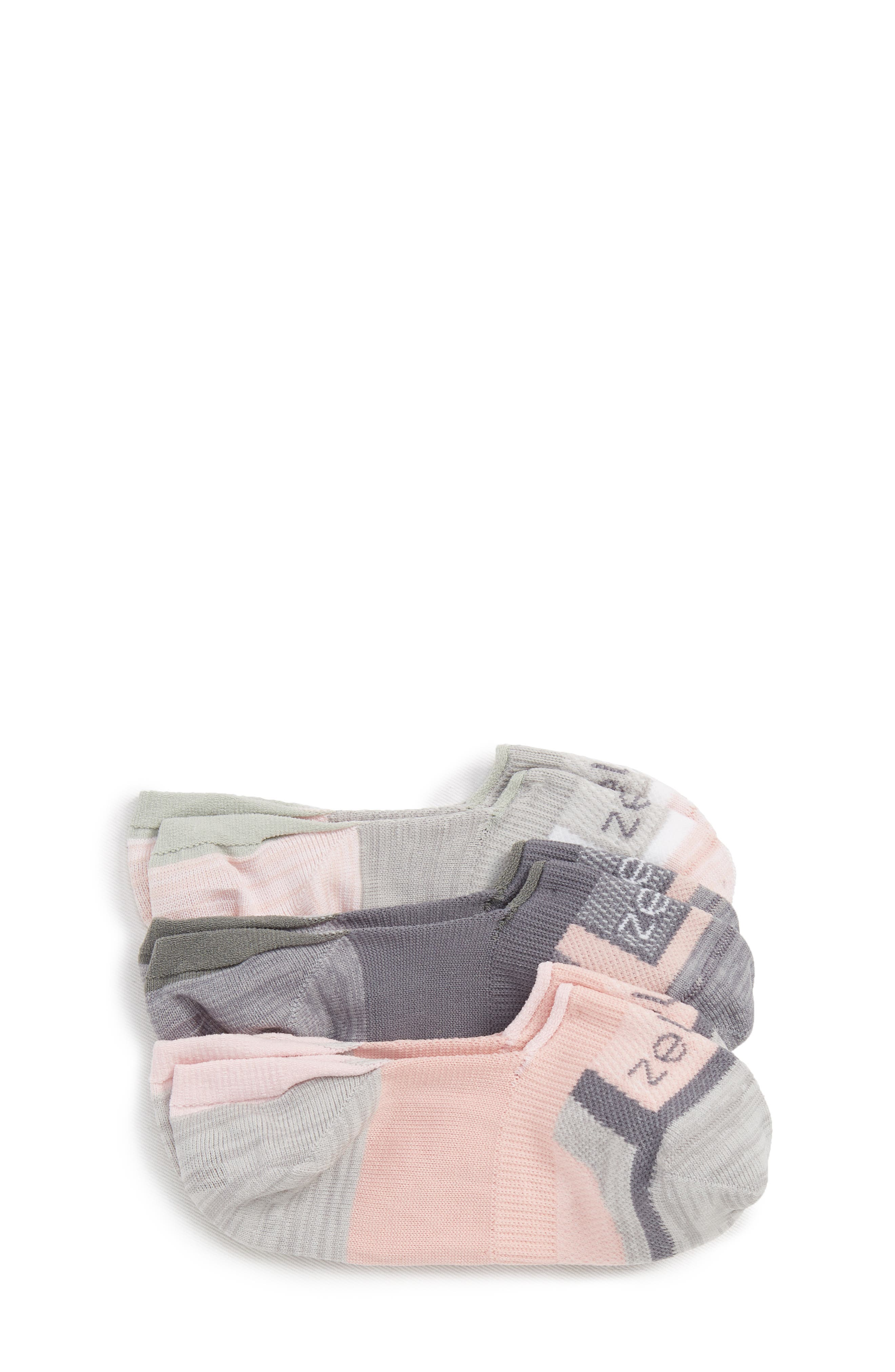 Secret 3-Pack No-Show Socks,                             Main thumbnail 1, color,                             PINK CAKE