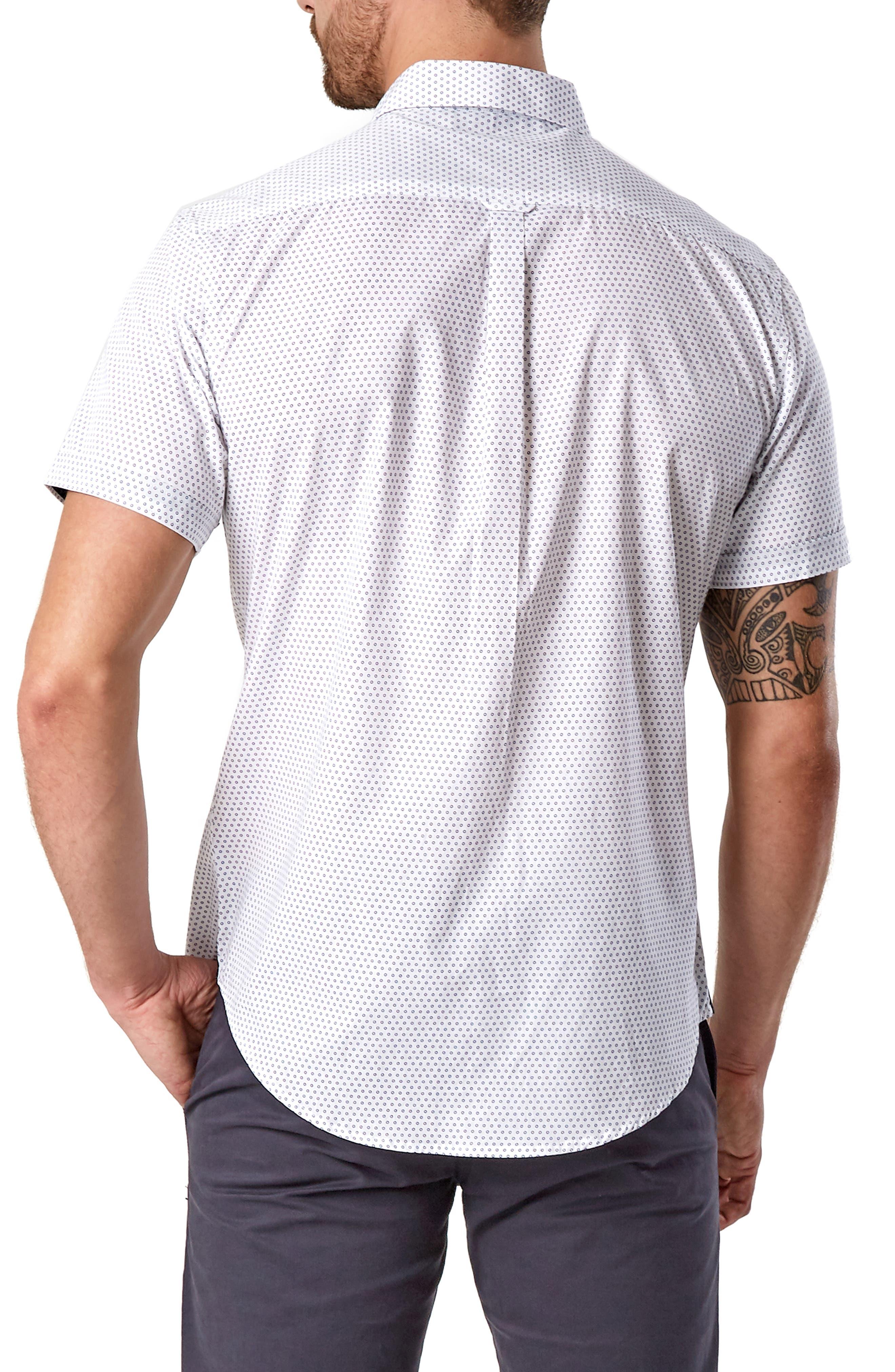 Suavecito Slim Fit Sport Shirt,                             Alternate thumbnail 3, color,                             WHITE