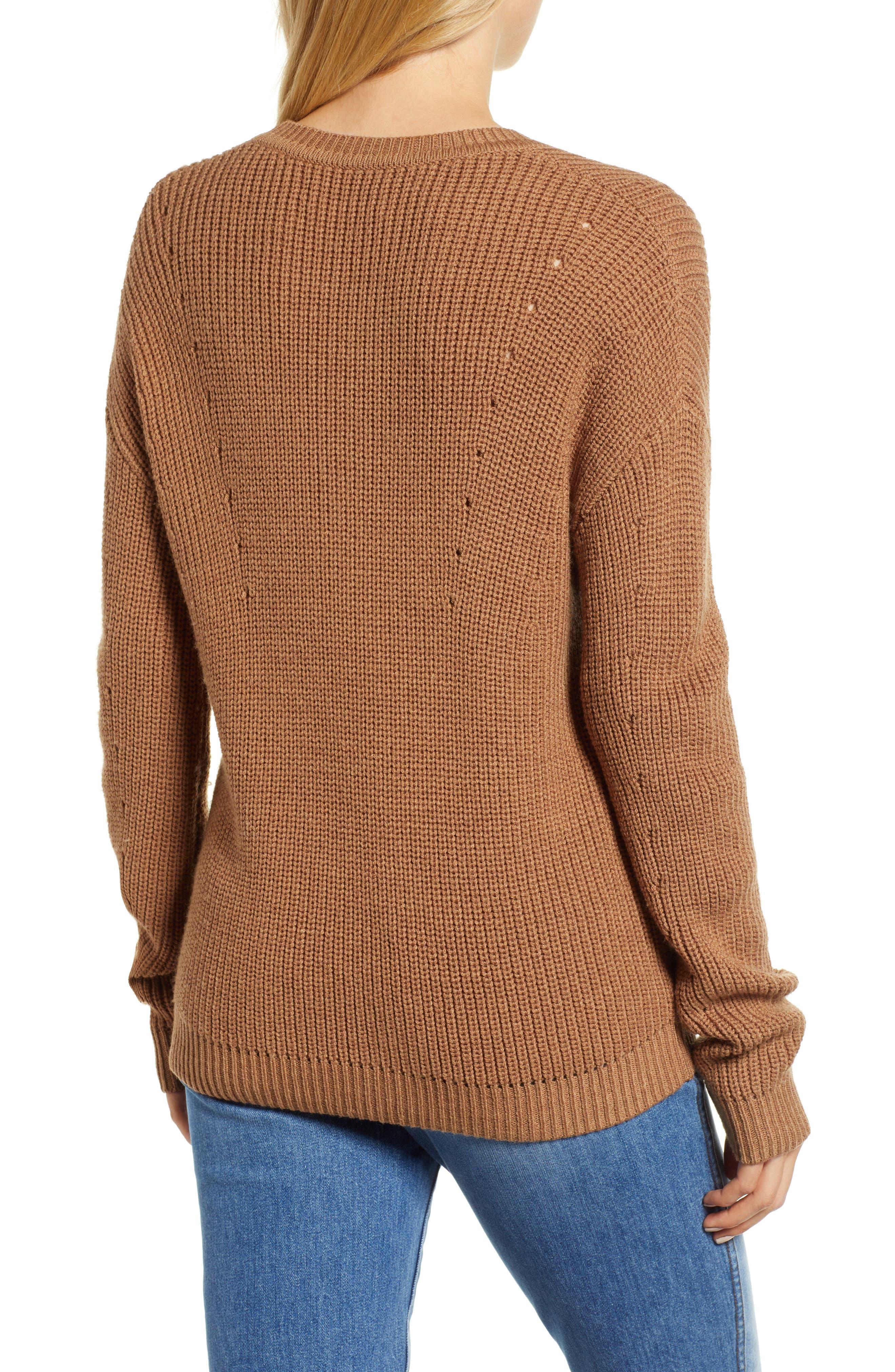Crewneck Sweater,                             Alternate thumbnail 2, color,                             BRONZE