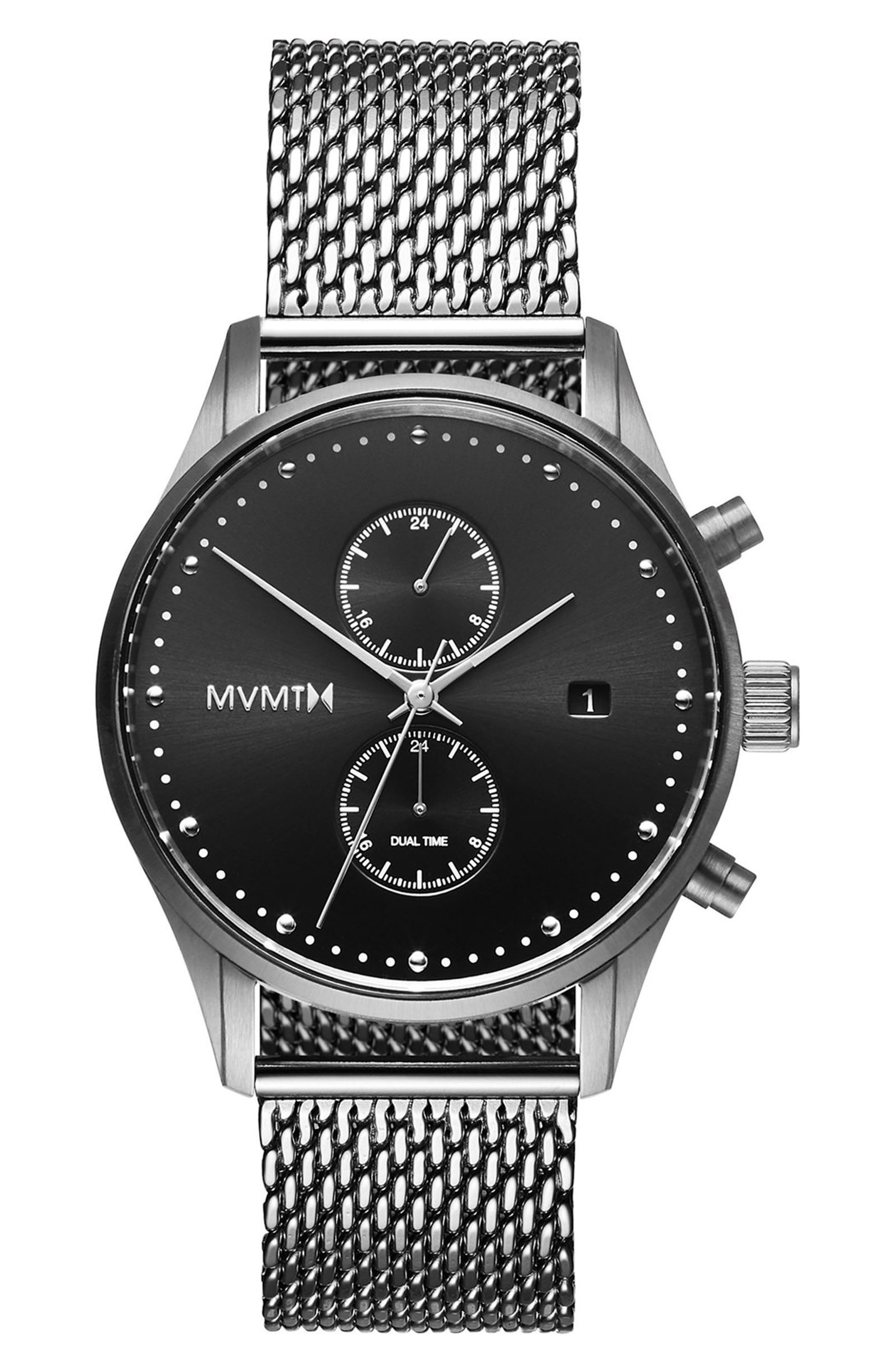 Voyager Chronograph Mesh Strap Watch, 42mm,                             Main thumbnail 1, color,                             040