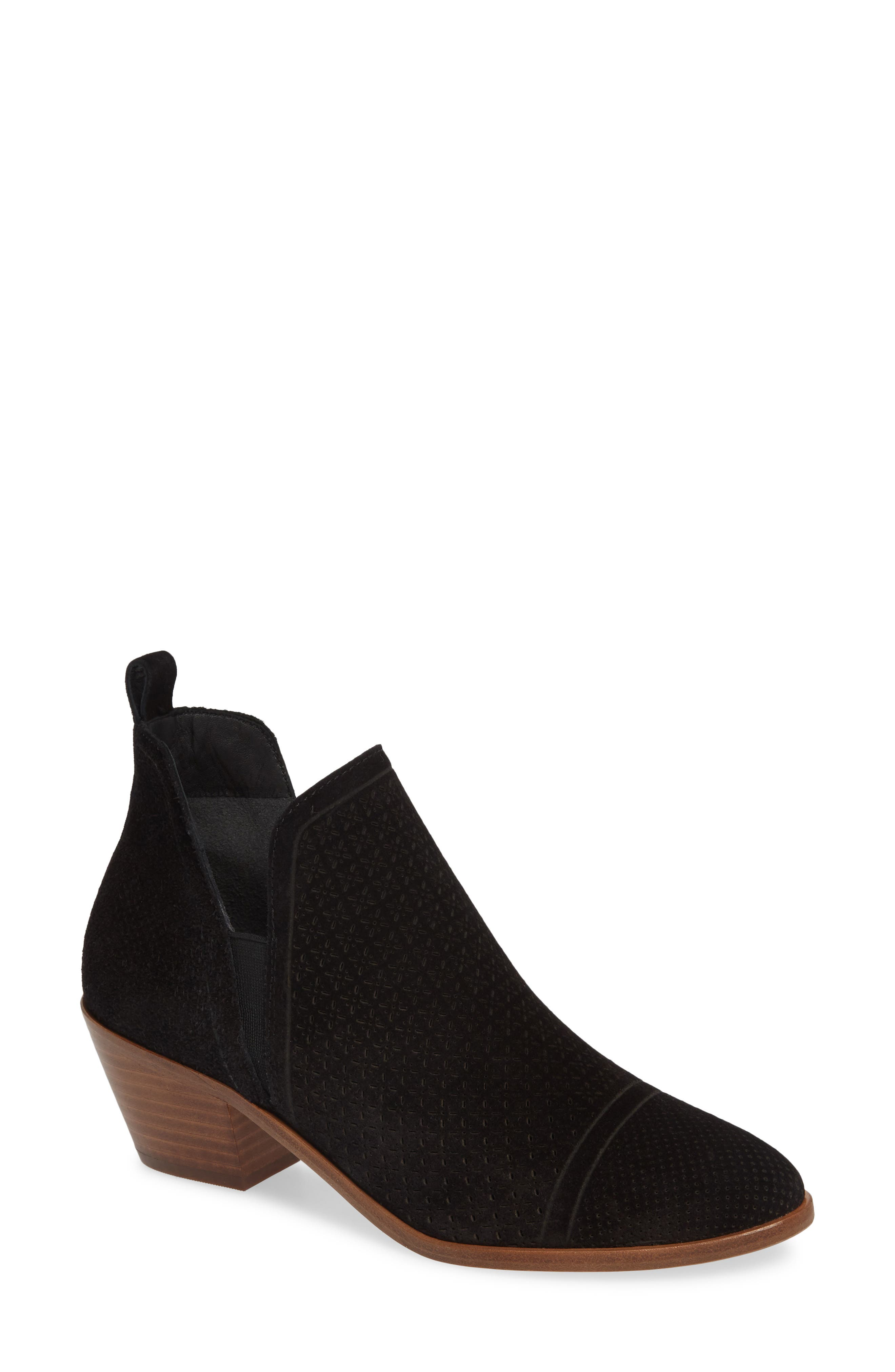 Sigerson Morrison Perforated Western Bootie EU - Black