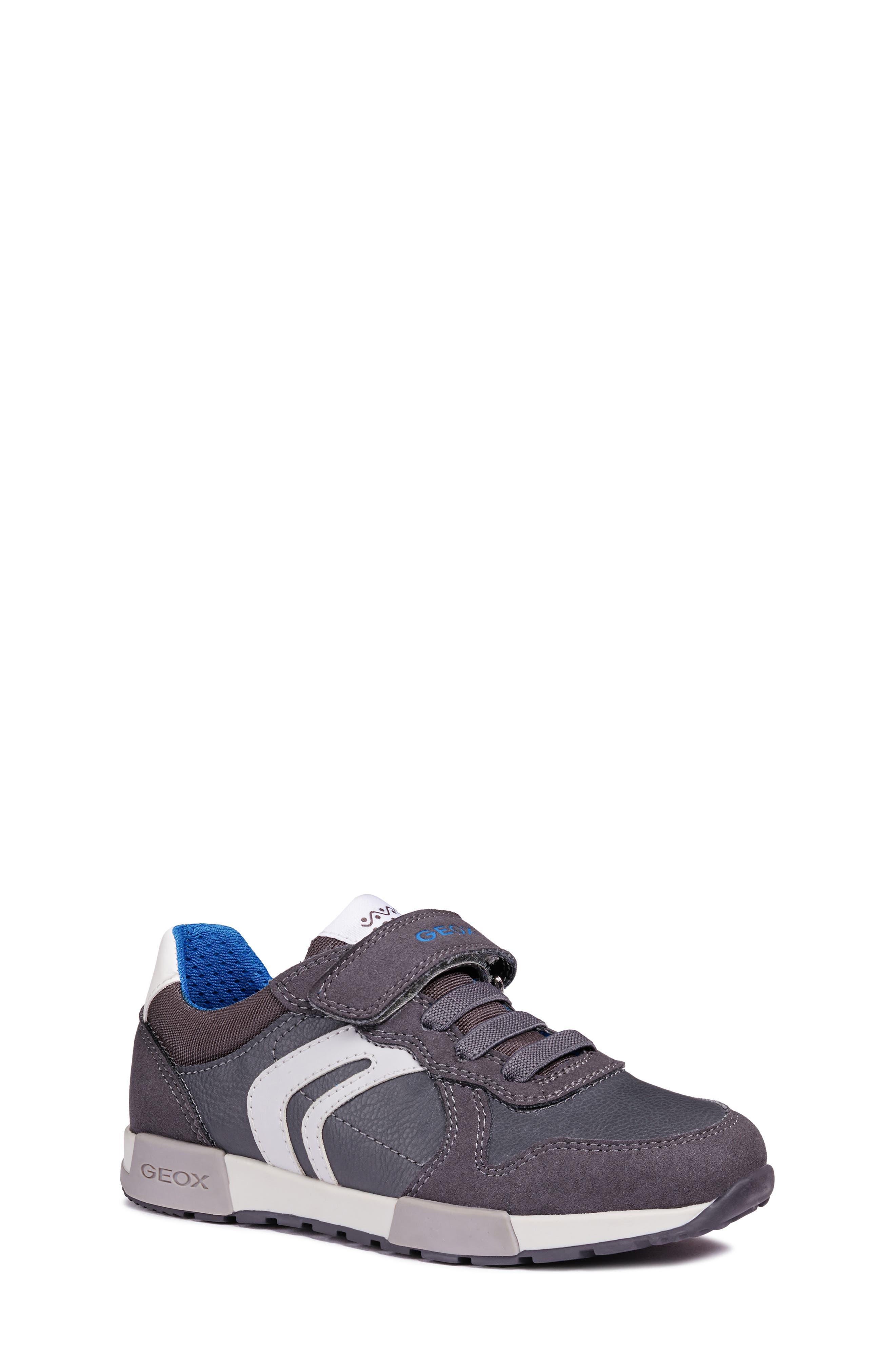 Alfier Boy Sneaker,                         Main,                         color, DARK GREY/GREY