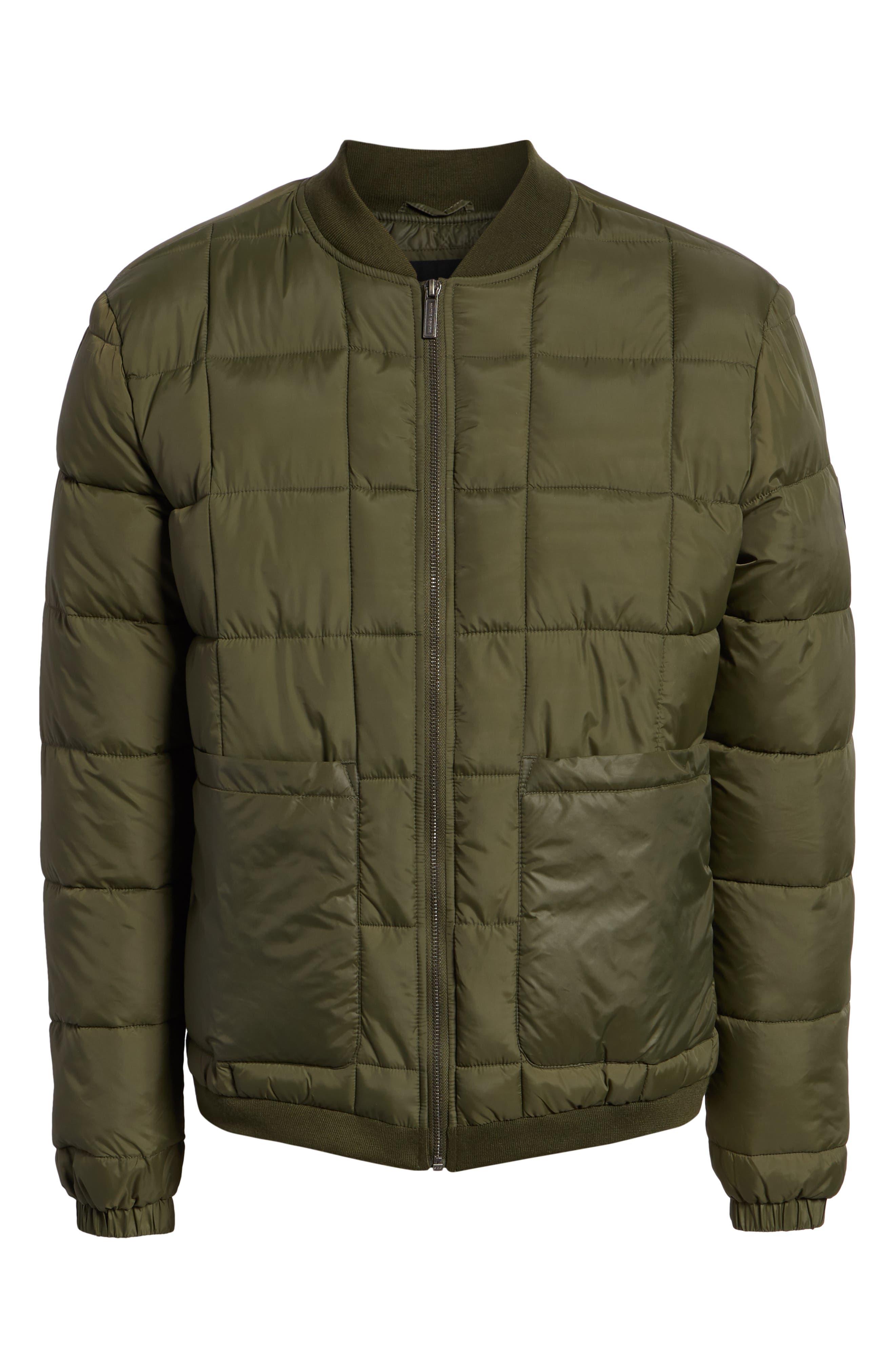 Quilted Short Jacket,                             Alternate thumbnail 6, color,                             OLIVE