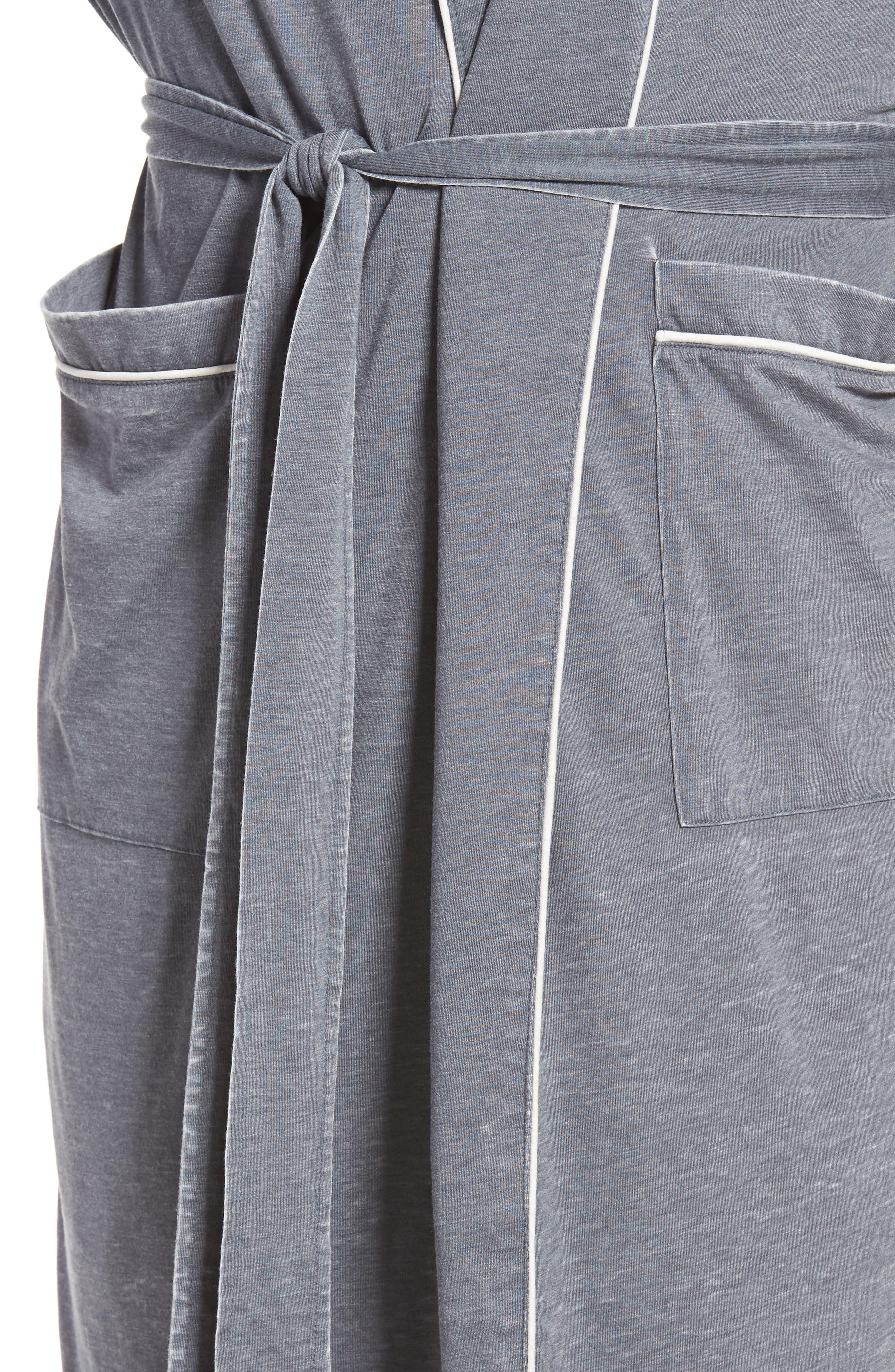 Burnout Cotton Blend Robe,                             Alternate thumbnail 4, color,                             020