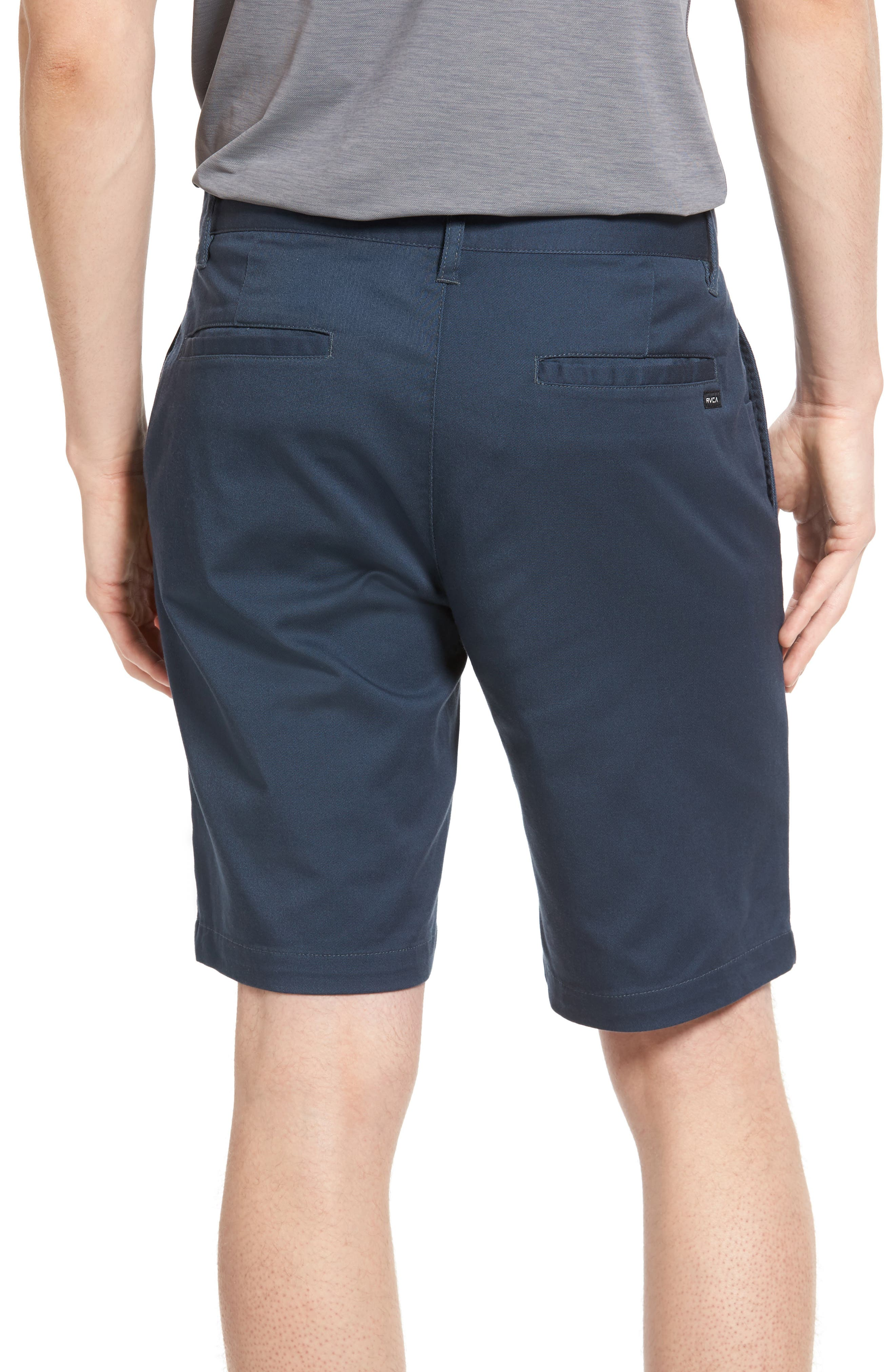 The Week-End Stretch Twill Chino Shorts,                             Alternate thumbnail 2, color,                             SMOKE