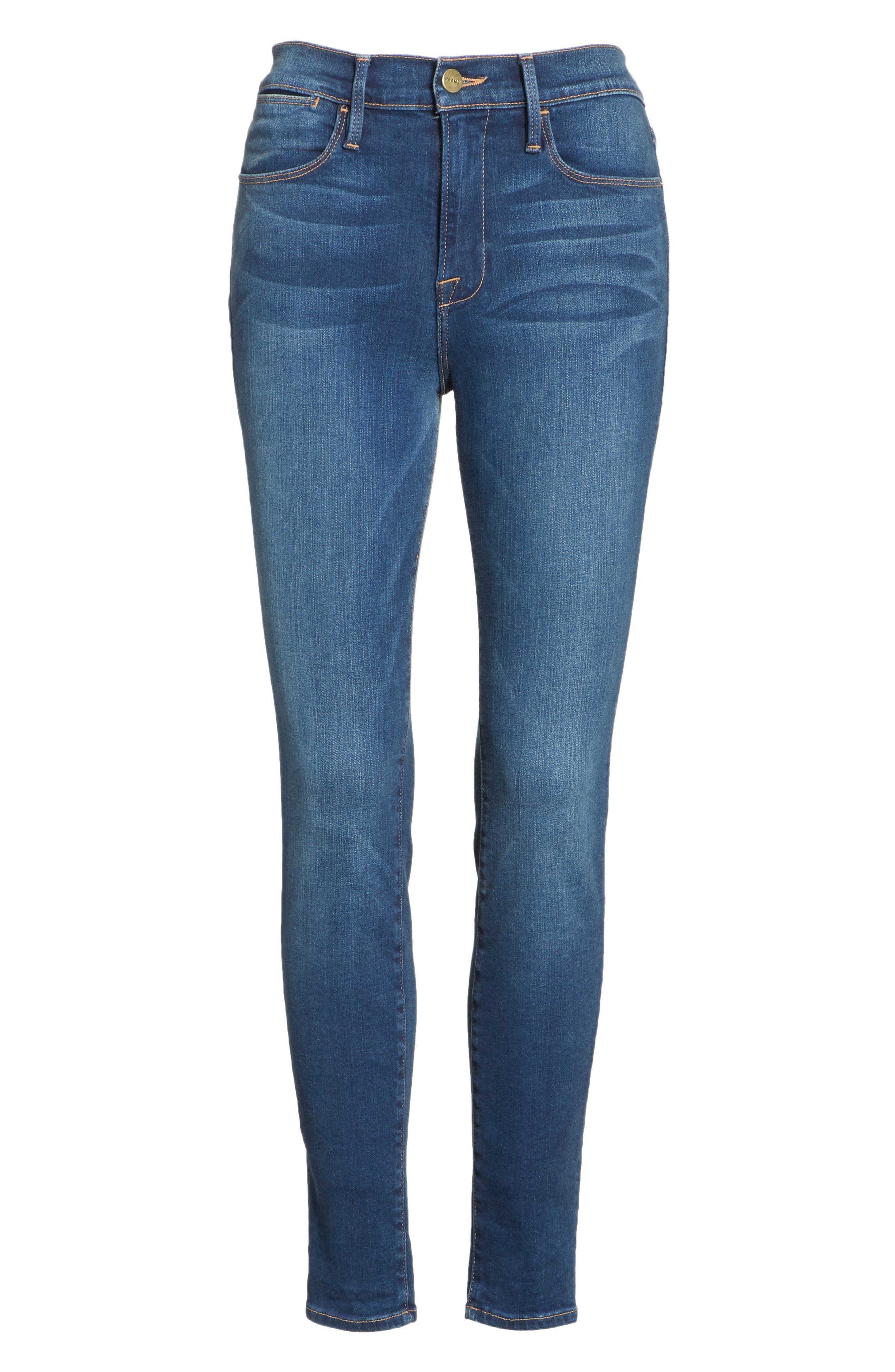 Le High Ankle Skinny Jeans,                             Alternate thumbnail 7, color,                             402