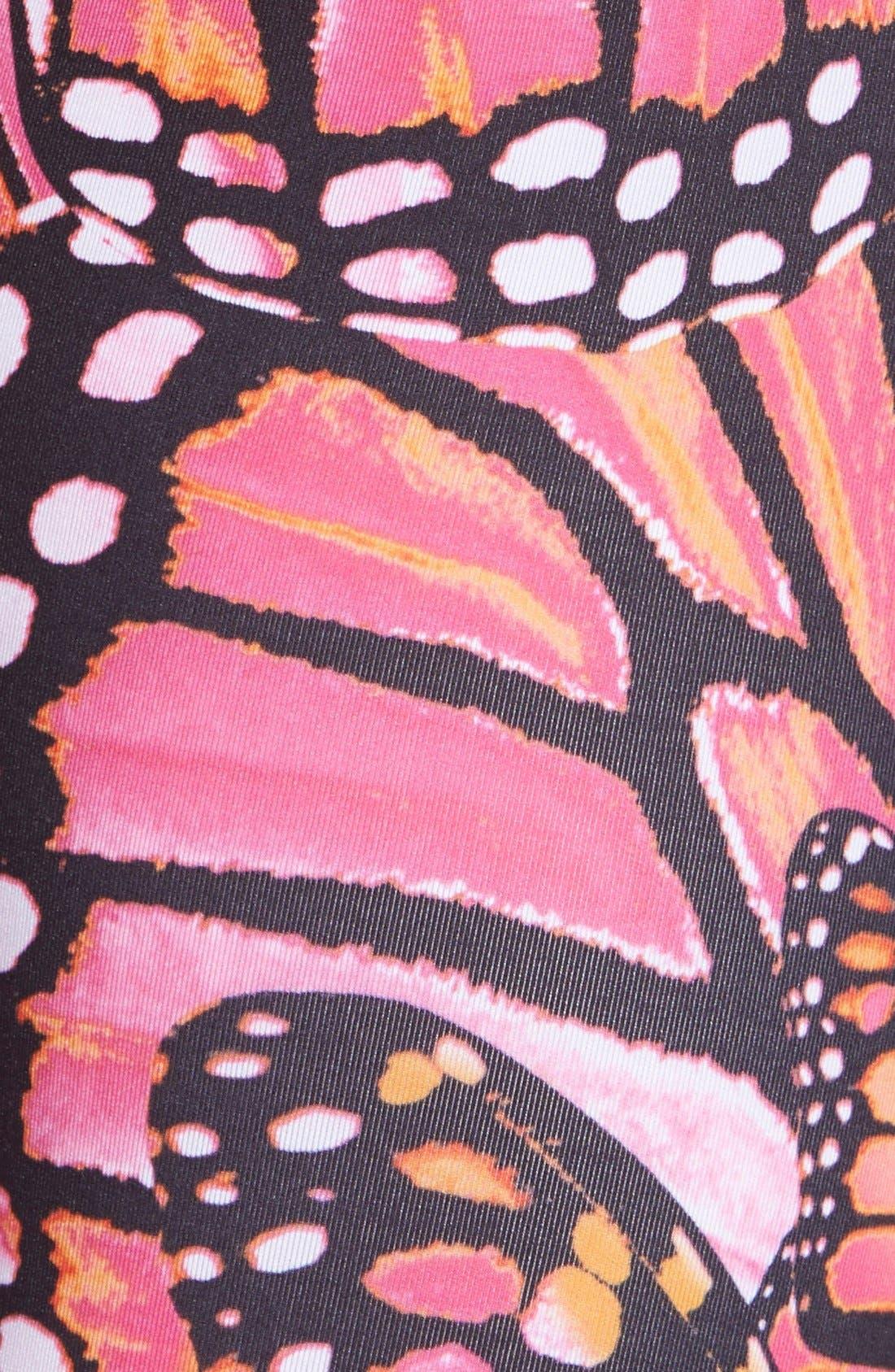 Butterfly Print Leggings,                             Alternate thumbnail 4, color,                             997