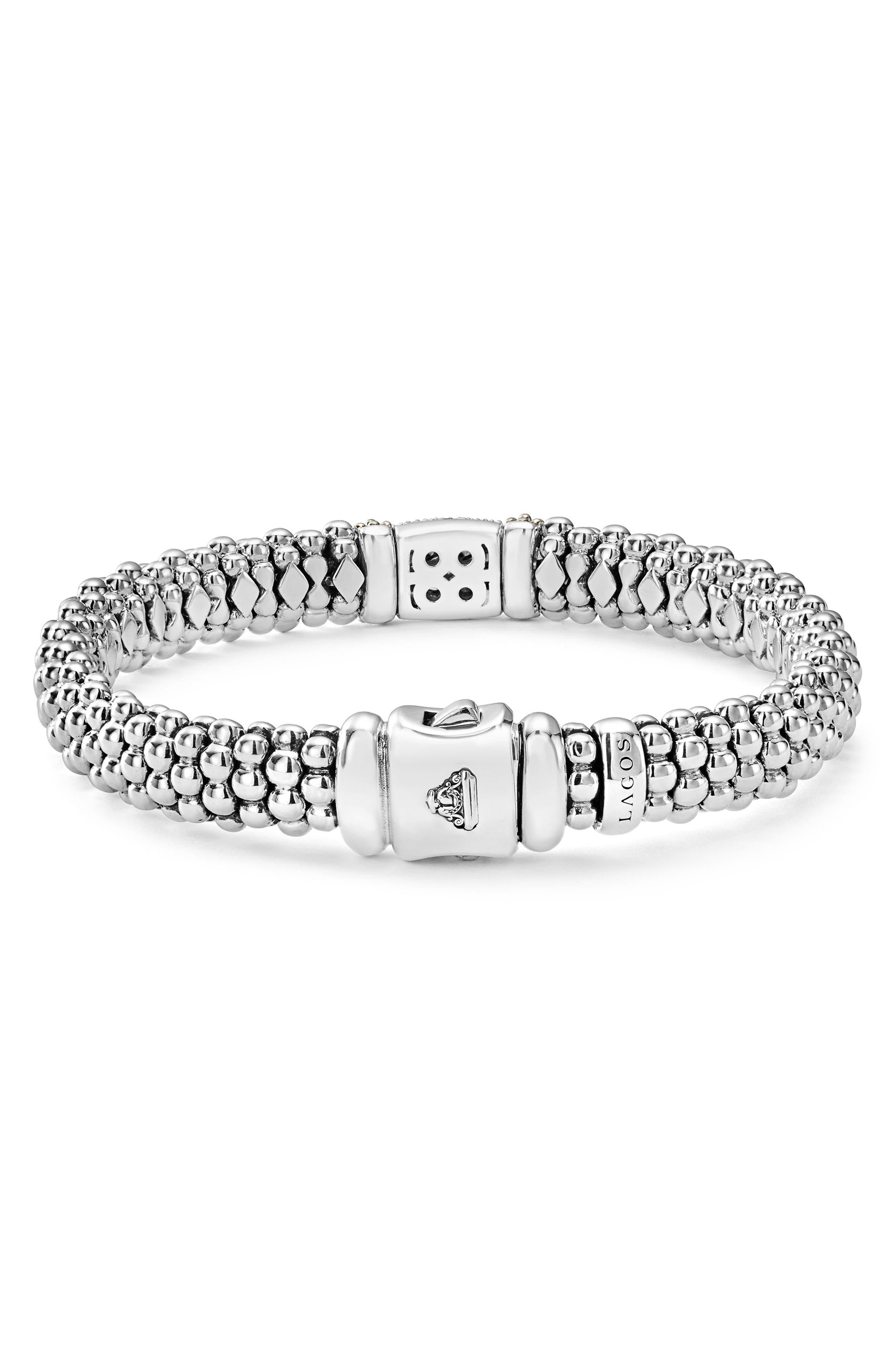Diamond Lux Pavé Station Rope Bracelet,                             Alternate thumbnail 2, color,                             DIAMOND