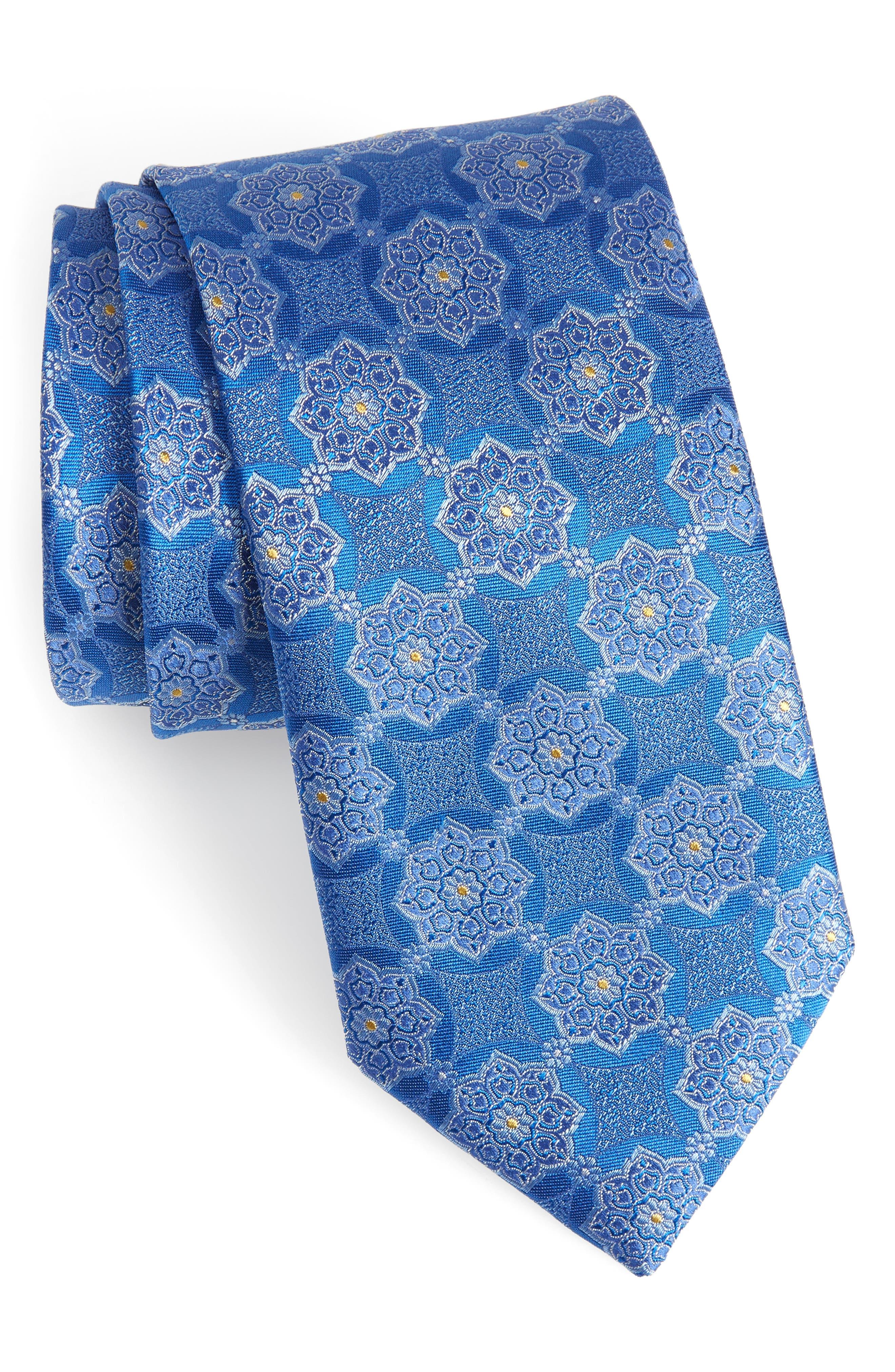Medallion Silk Tie,                         Main,                         color, 420