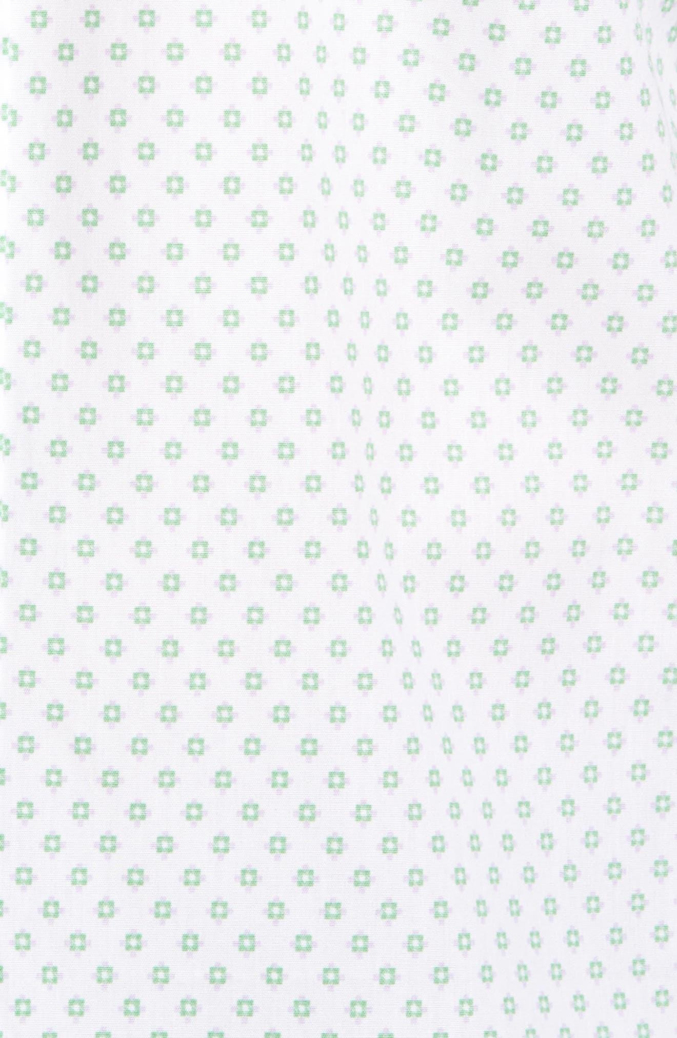 Classic Fit Neat Floral Print Sport Shirt,                             Alternate thumbnail 5, color,                             300