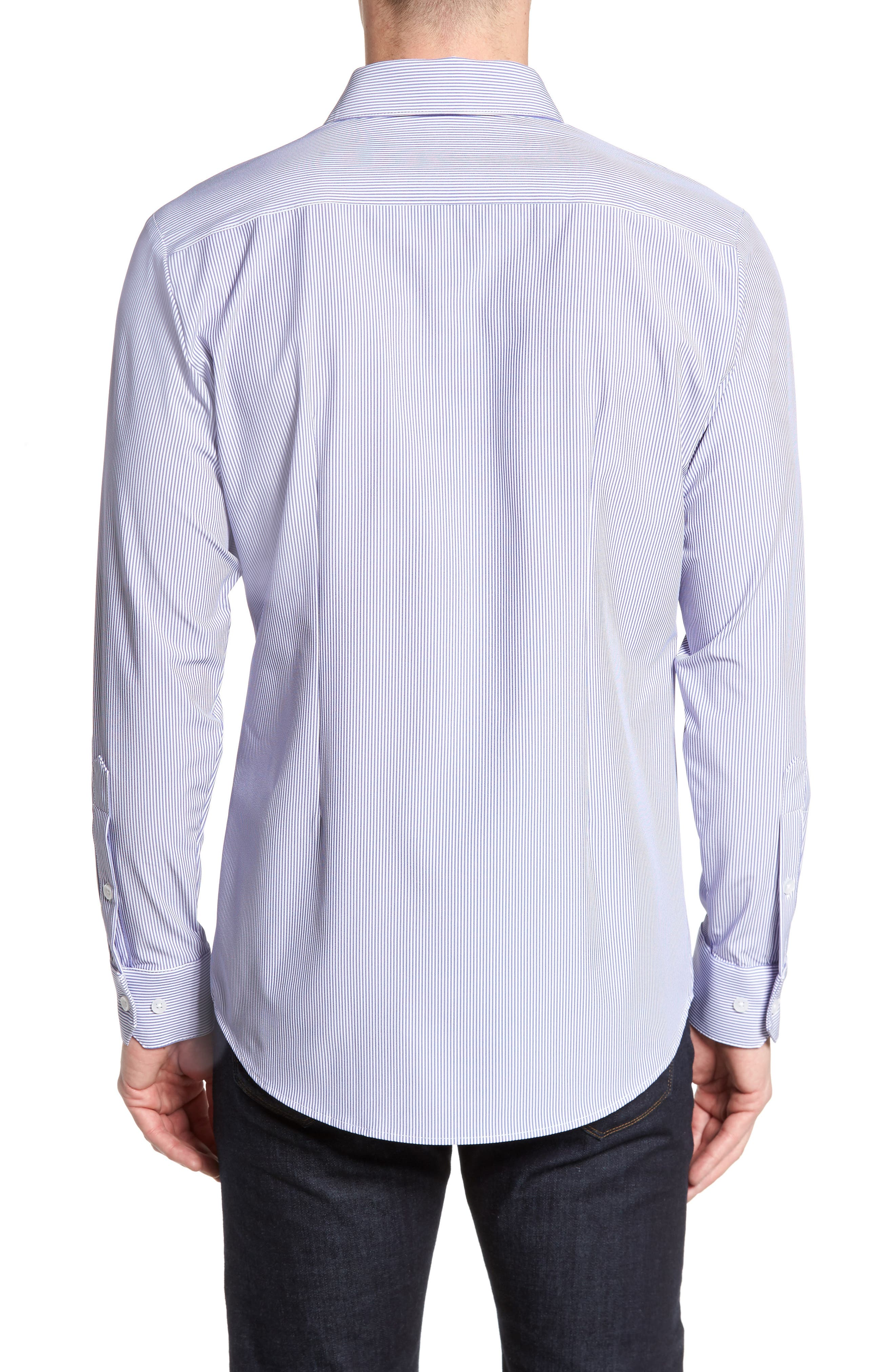 Newport Pinstripe Sport Shirt,                             Alternate thumbnail 2, color,
