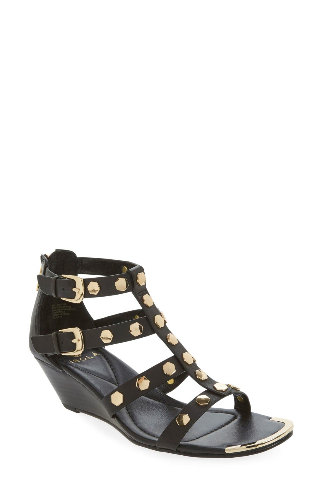 ISOLÁ 'Primrose' Wedge Sandal, Main, color, 001