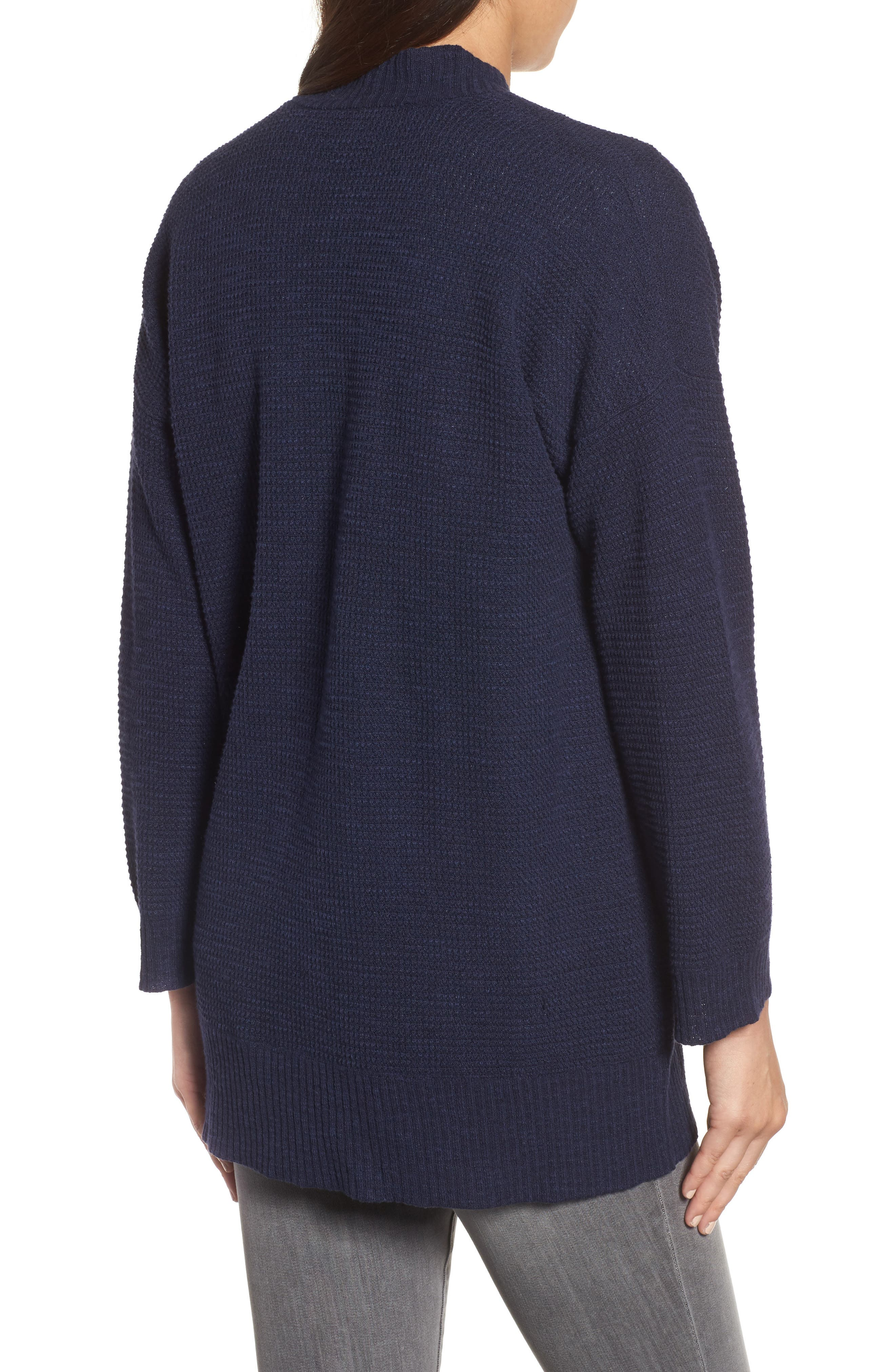 Organic Linen & Cotton Cardigan,                             Alternate thumbnail 4, color,