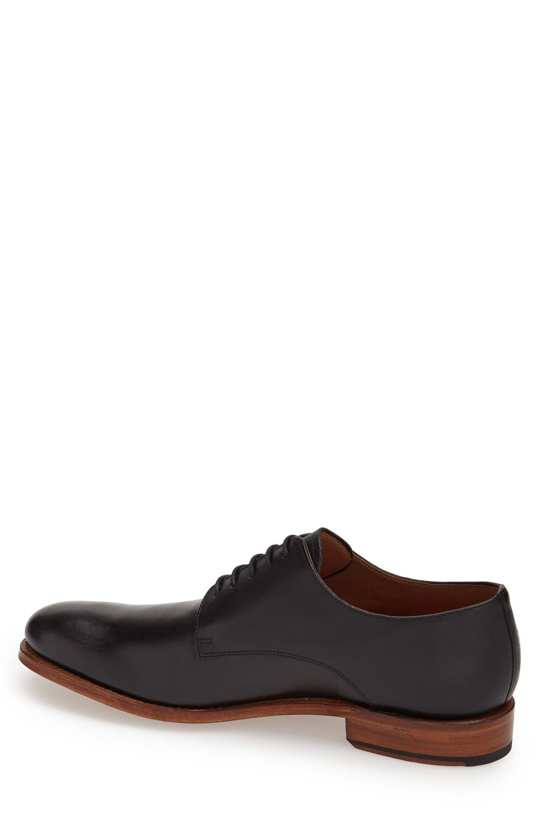 GRENSON,                             'Toby' Leather Plain Toe Derby,                             Alternate thumbnail 4, color,                             001