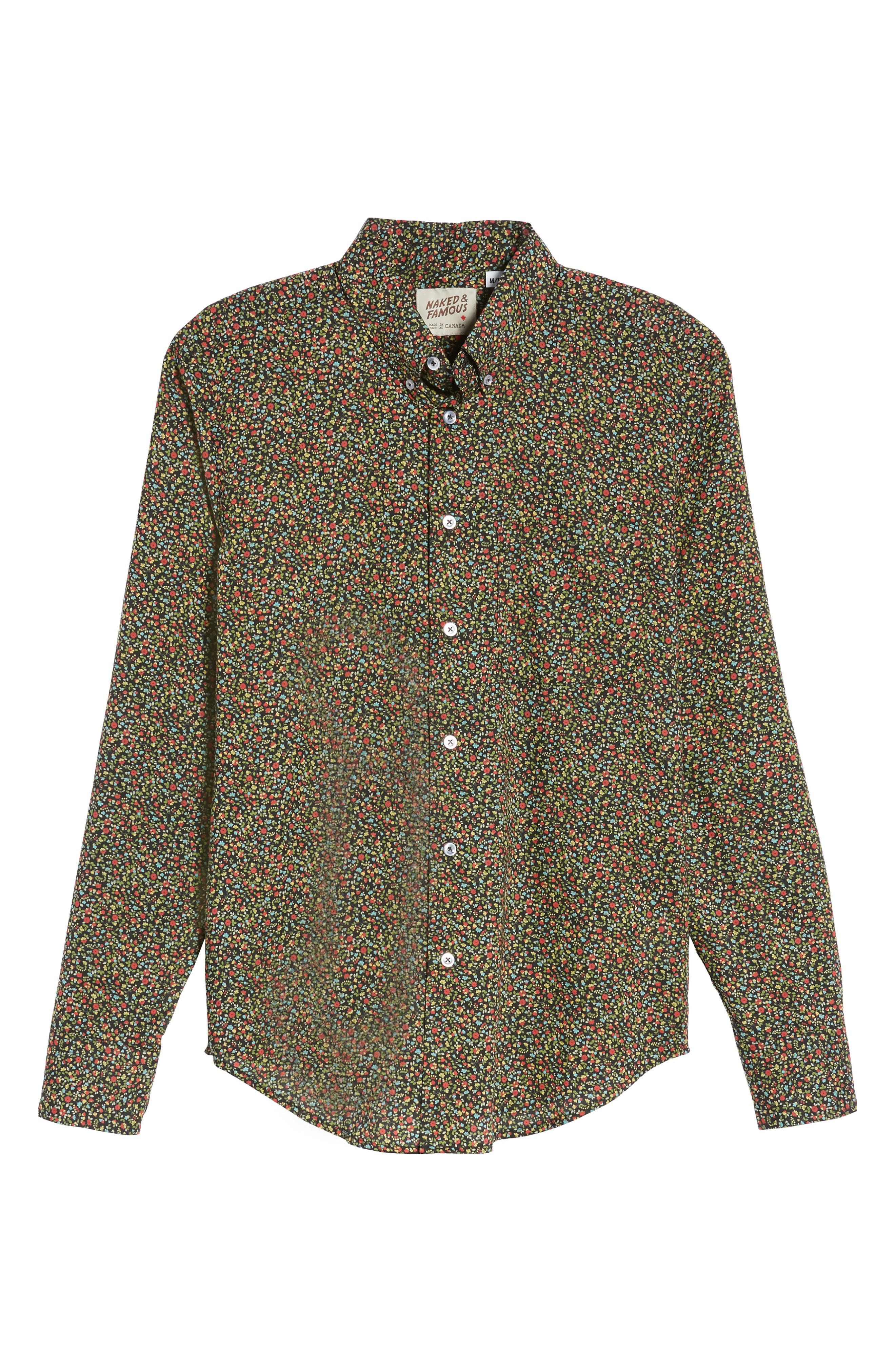 Naked & Famous Floral Shirt,                             Alternate thumbnail 6, color,
