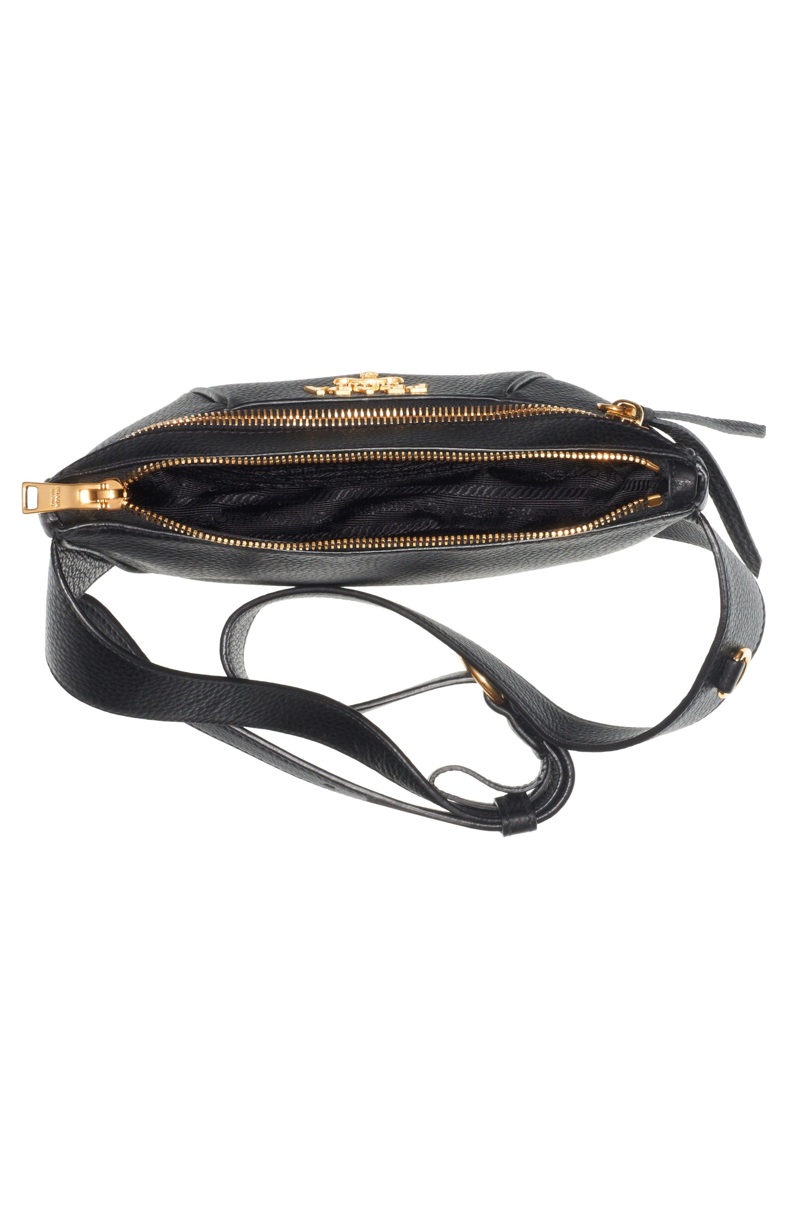 Daino Leather Belt Bag,                             Alternate thumbnail 3, color,                             001