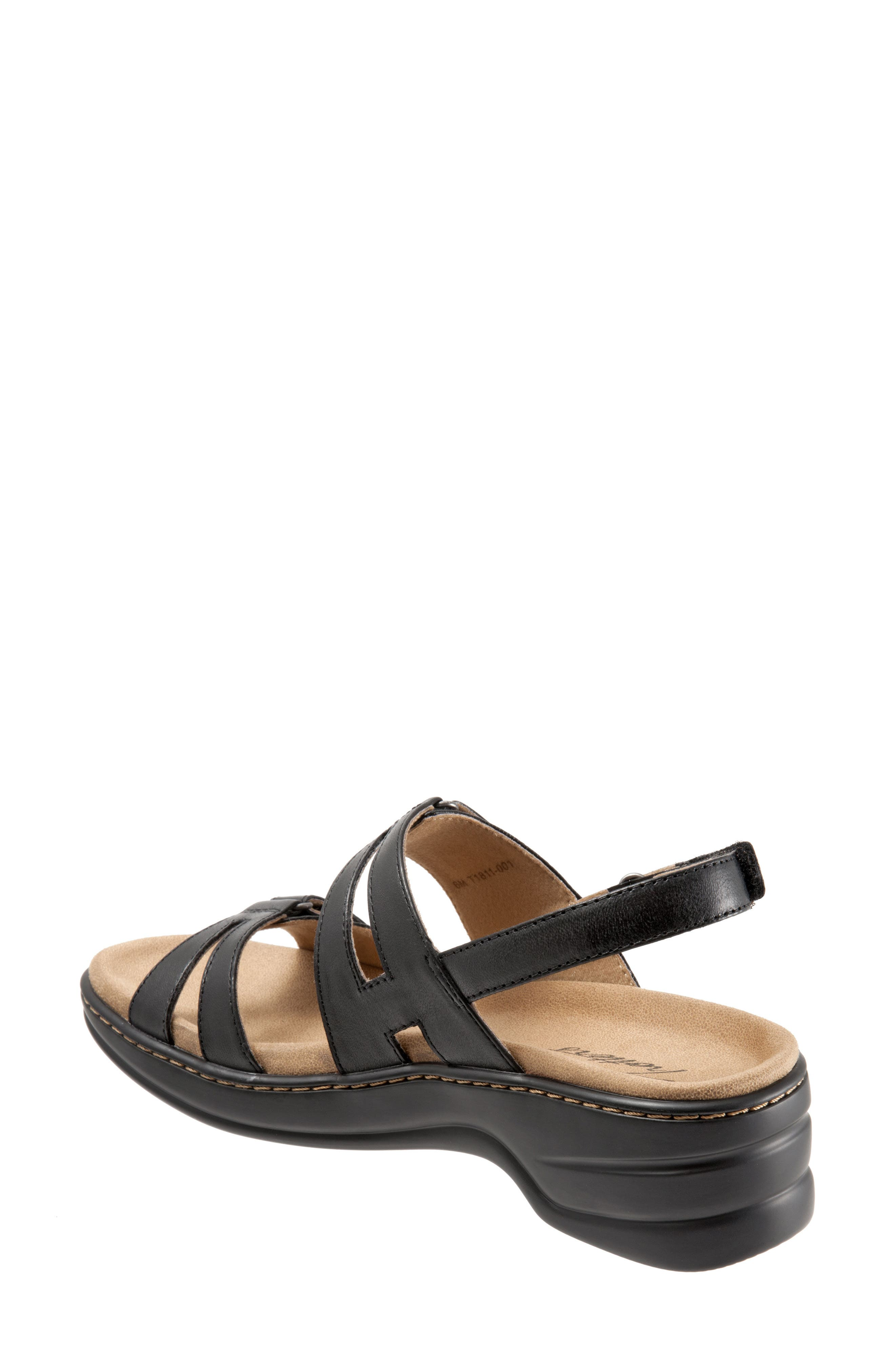 Newton Sandal,                             Alternate thumbnail 2, color,                             BLACK LEATHER