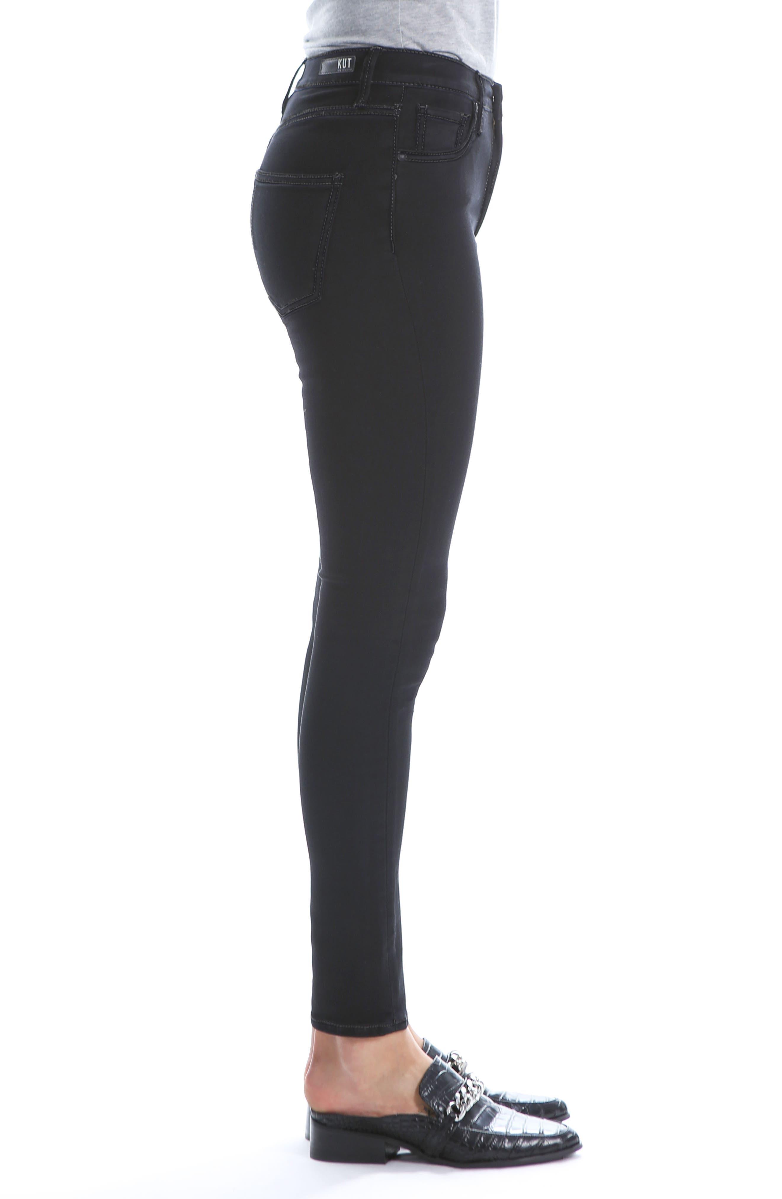 Mia High Waist Super Skinny Jeans,                             Alternate thumbnail 3, color,                             BLACK