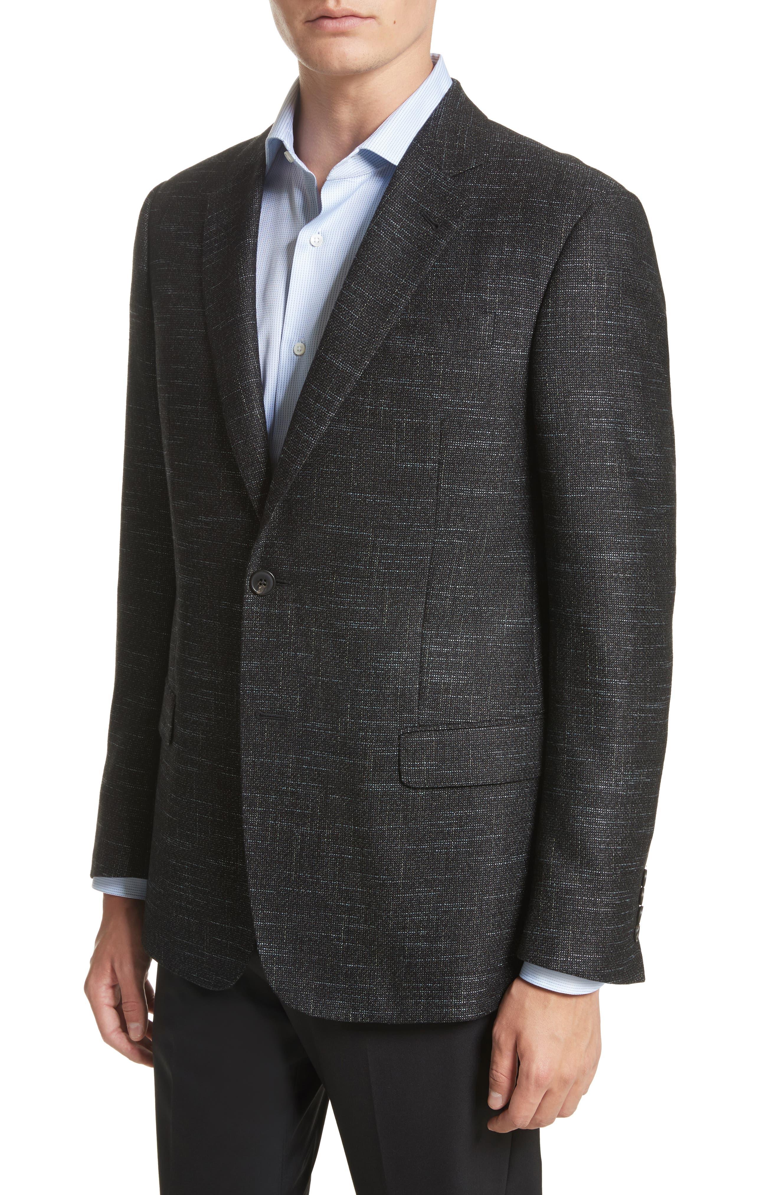 G-Line Trim Fit Wool Blend Blazer,                             Alternate thumbnail 4, color,                             355