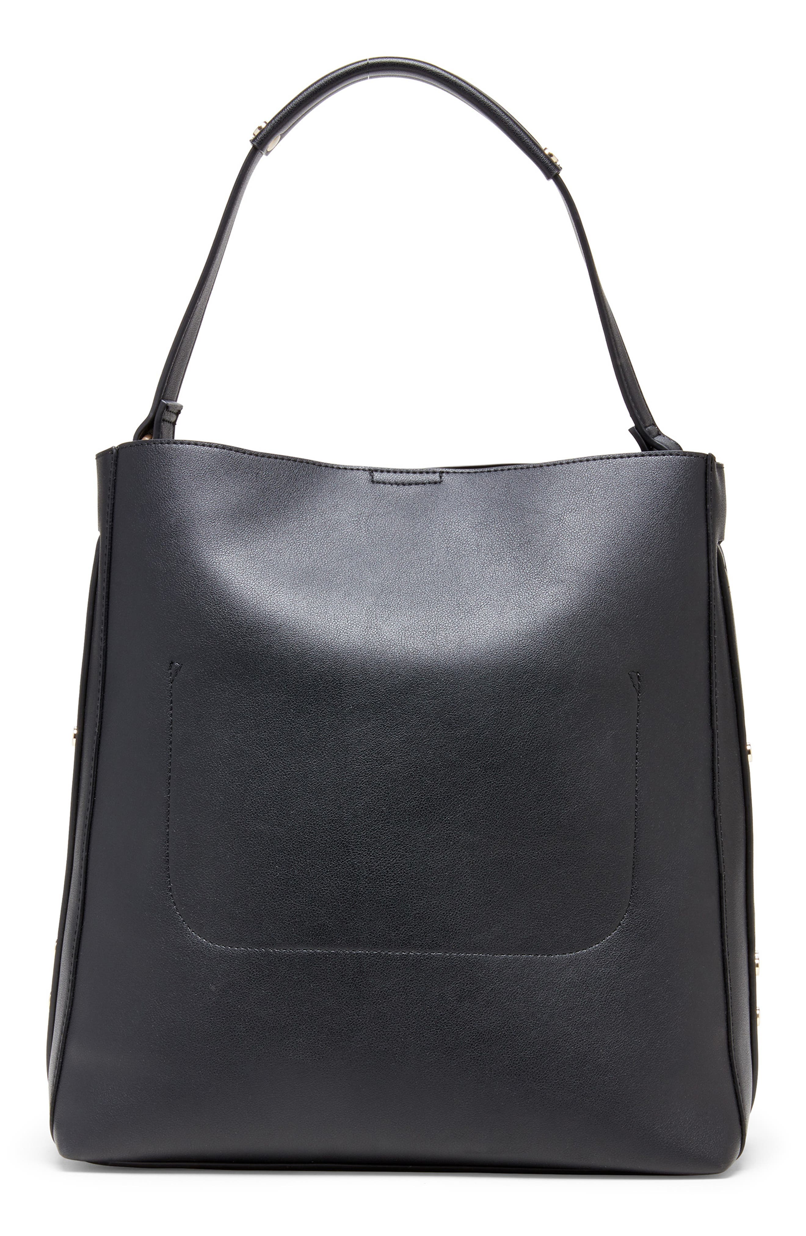 Hingi Faux Leather Tote,                             Alternate thumbnail 2, color,                             BLACK