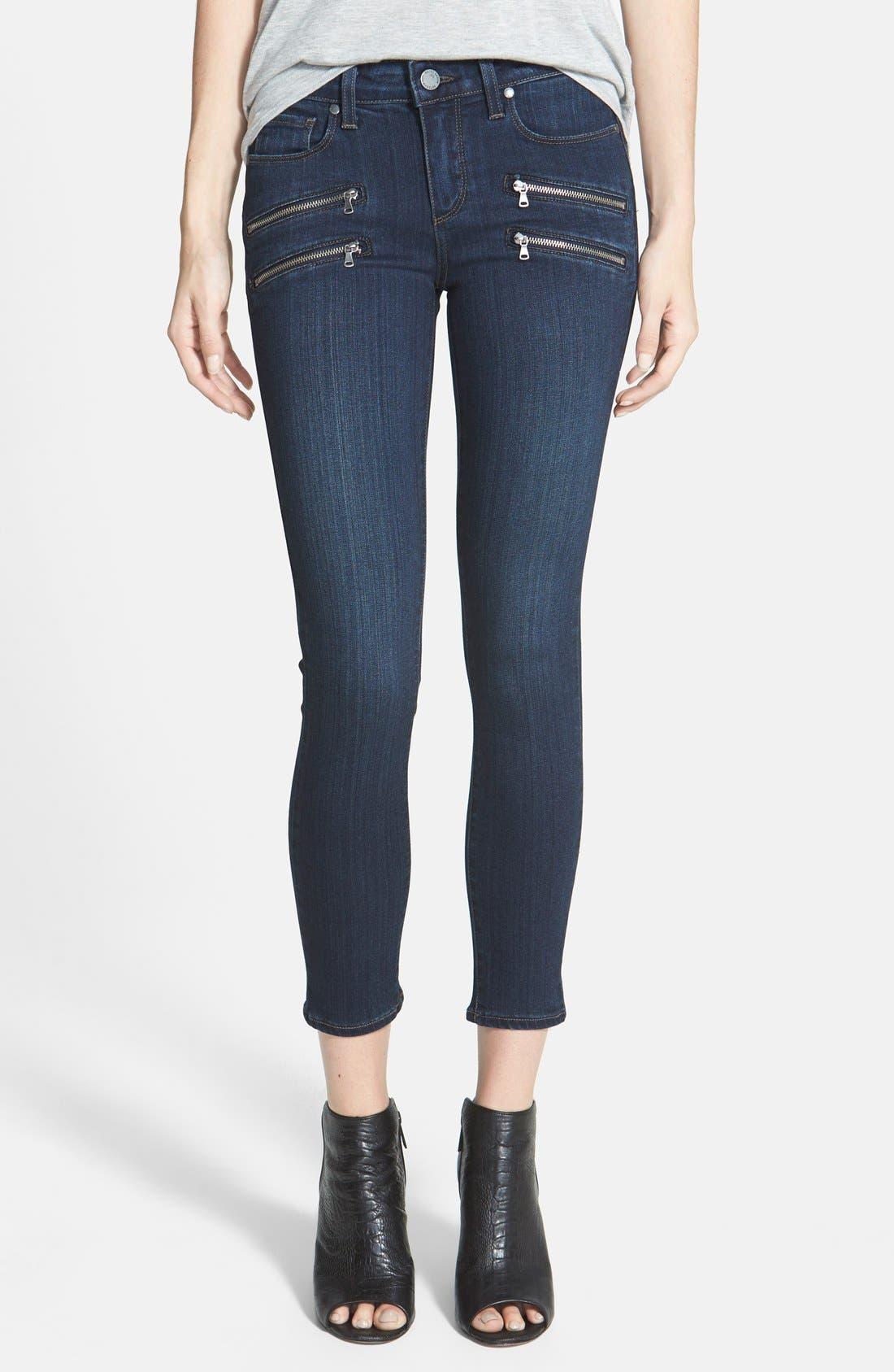Denim 'Transcend - Edgemont' Crop Jeans,                             Main thumbnail 1, color,