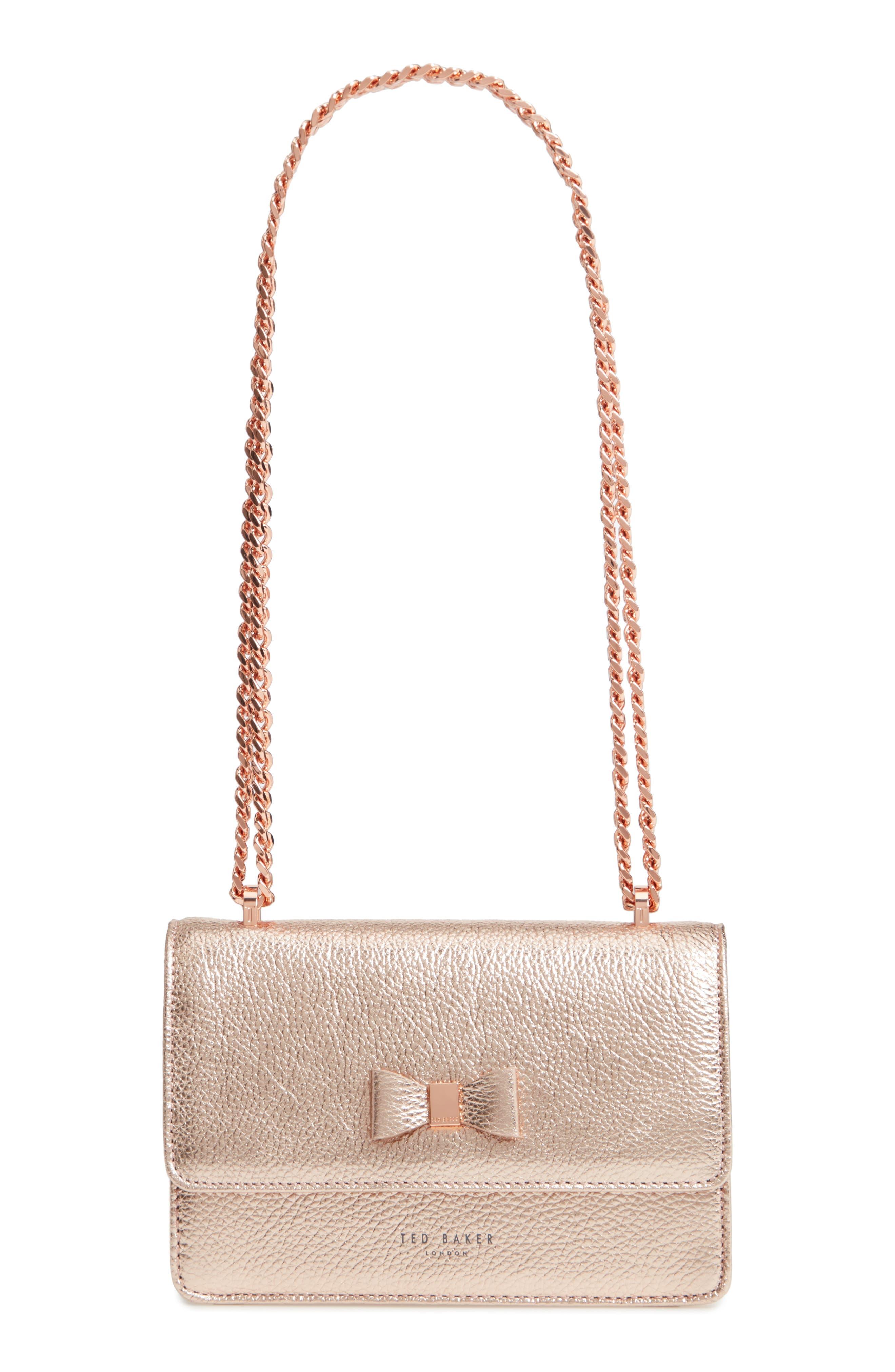 Micro Leather Crossbody Bag, Main, color, 712