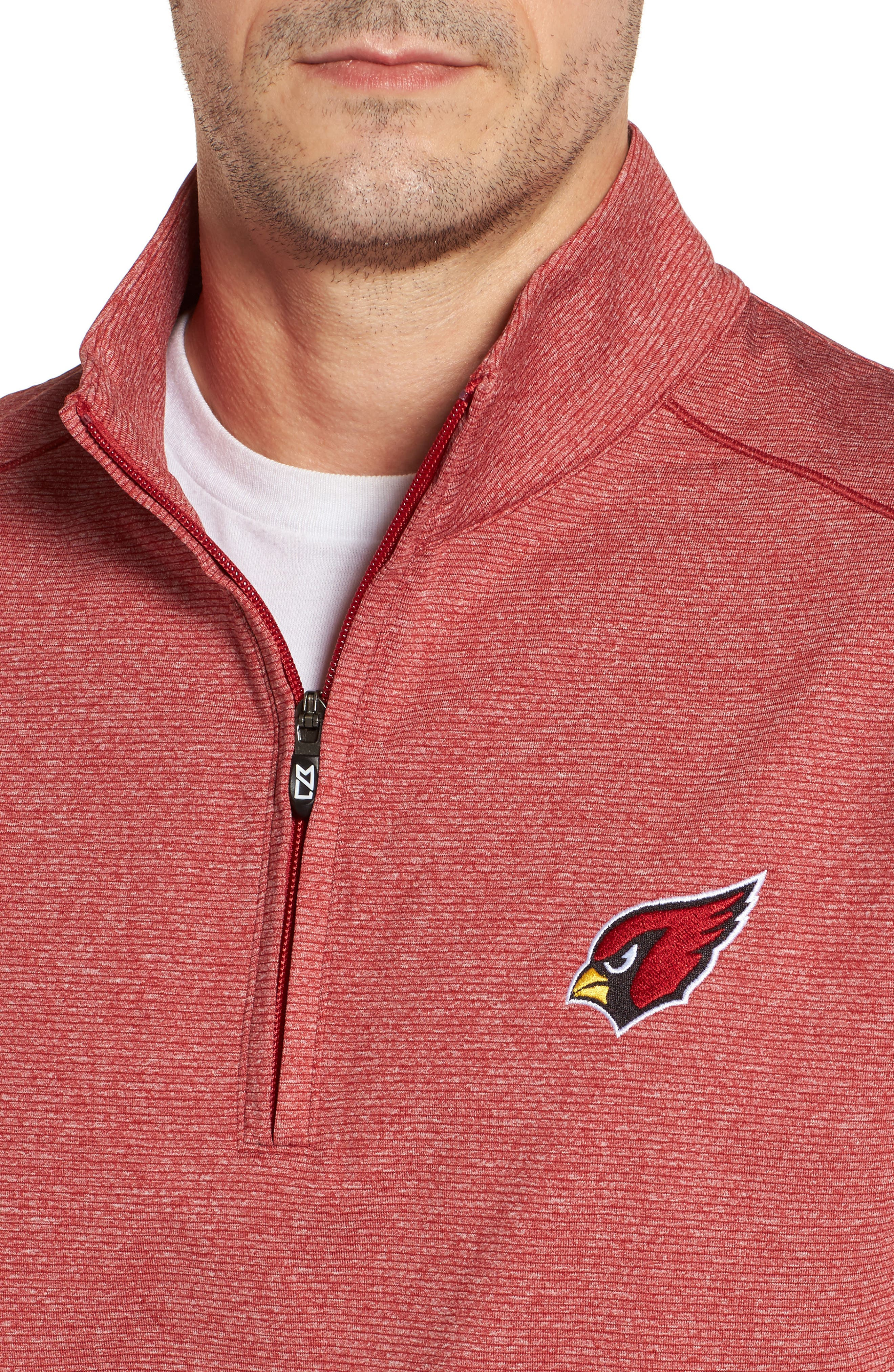 Shoreline - Arizona Cardinals Half Zip Pullover,                             Alternate thumbnail 4, color,