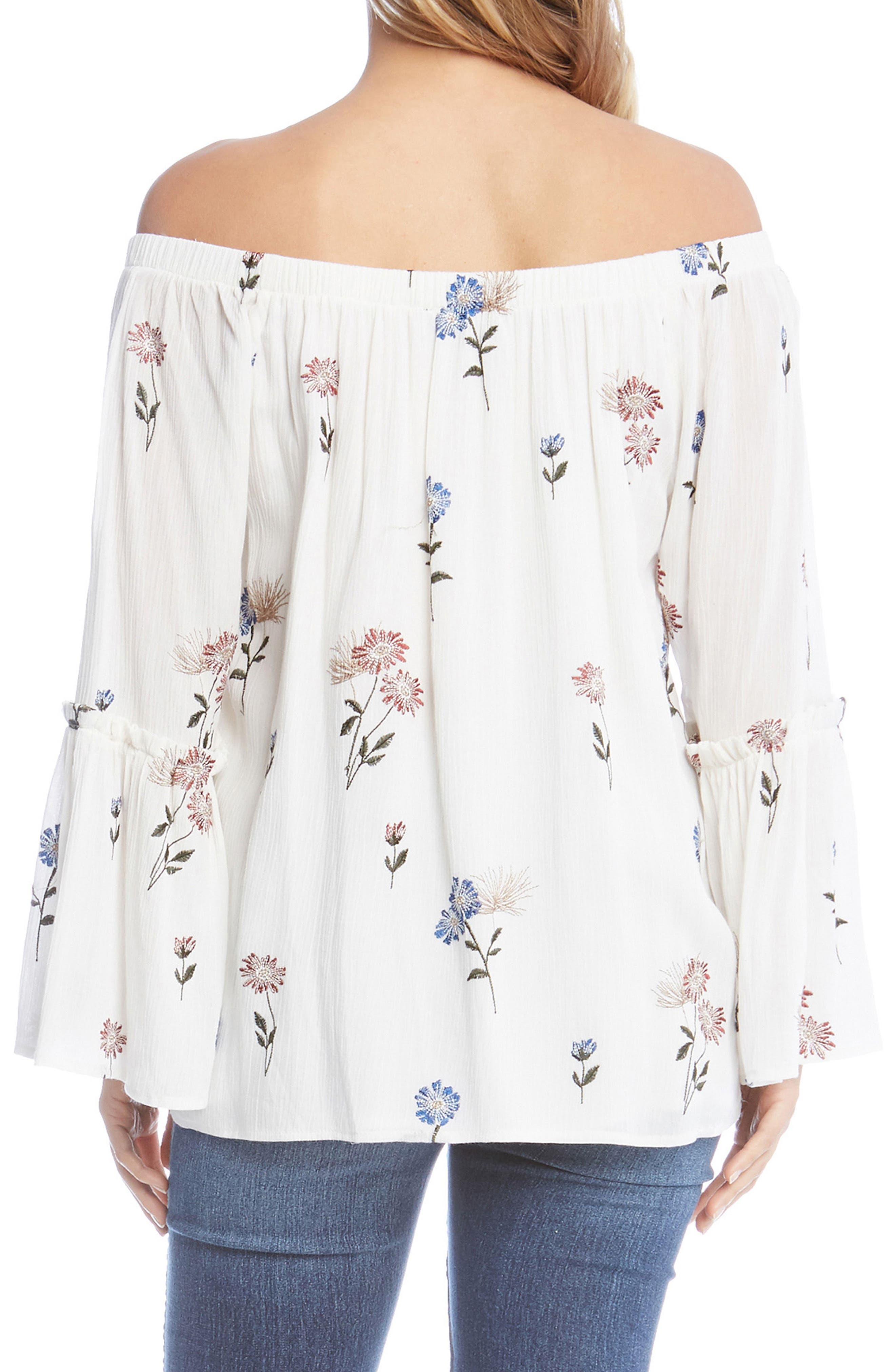 Off the Shoulder Embroidered Top,                             Alternate thumbnail 2, color,                             900