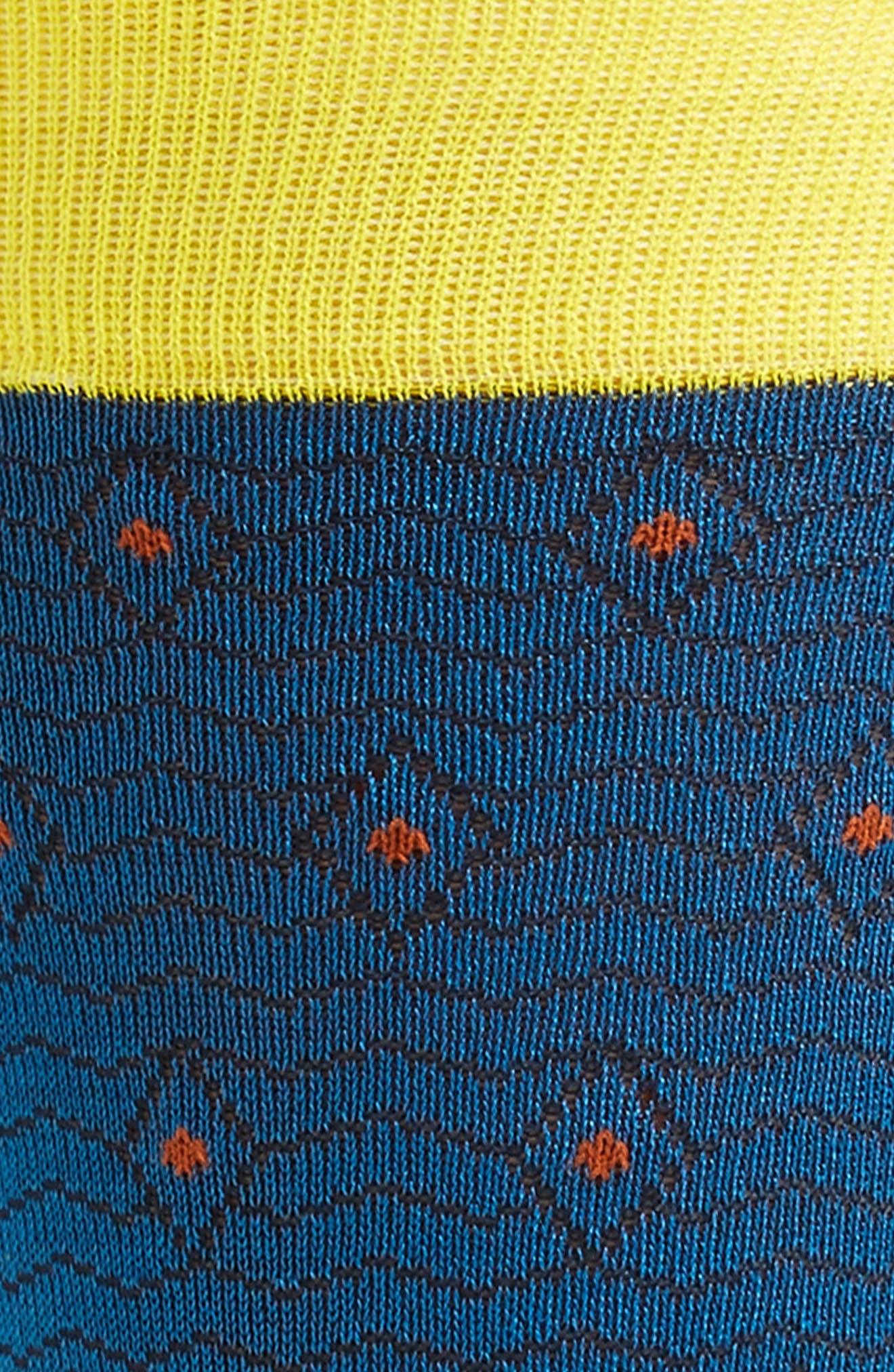 Reveaux Geometric Socks,                             Alternate thumbnail 2, color,                             402