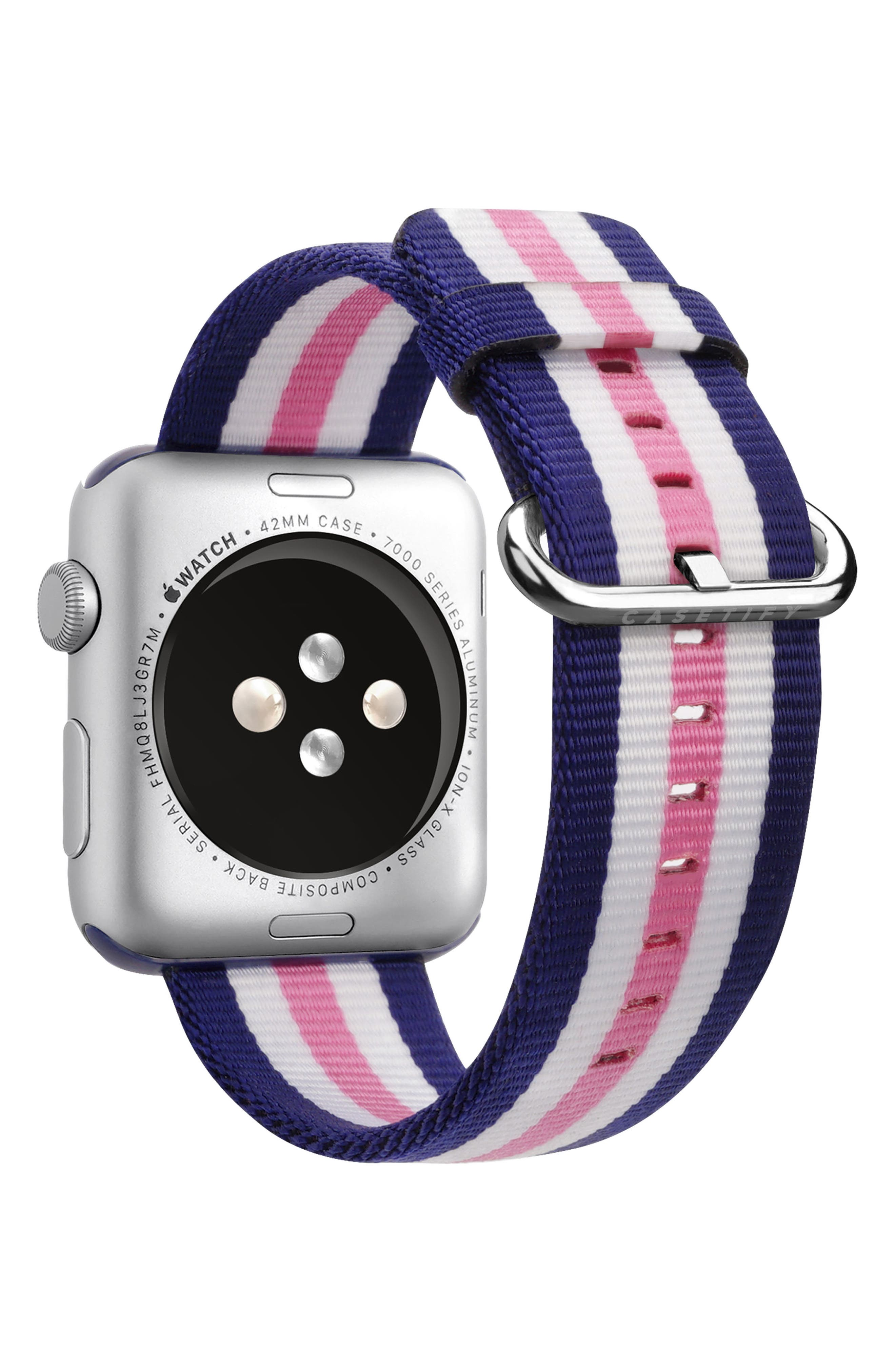 Nylon Apple Watch Strap, 38mm,                             Alternate thumbnail 19, color,