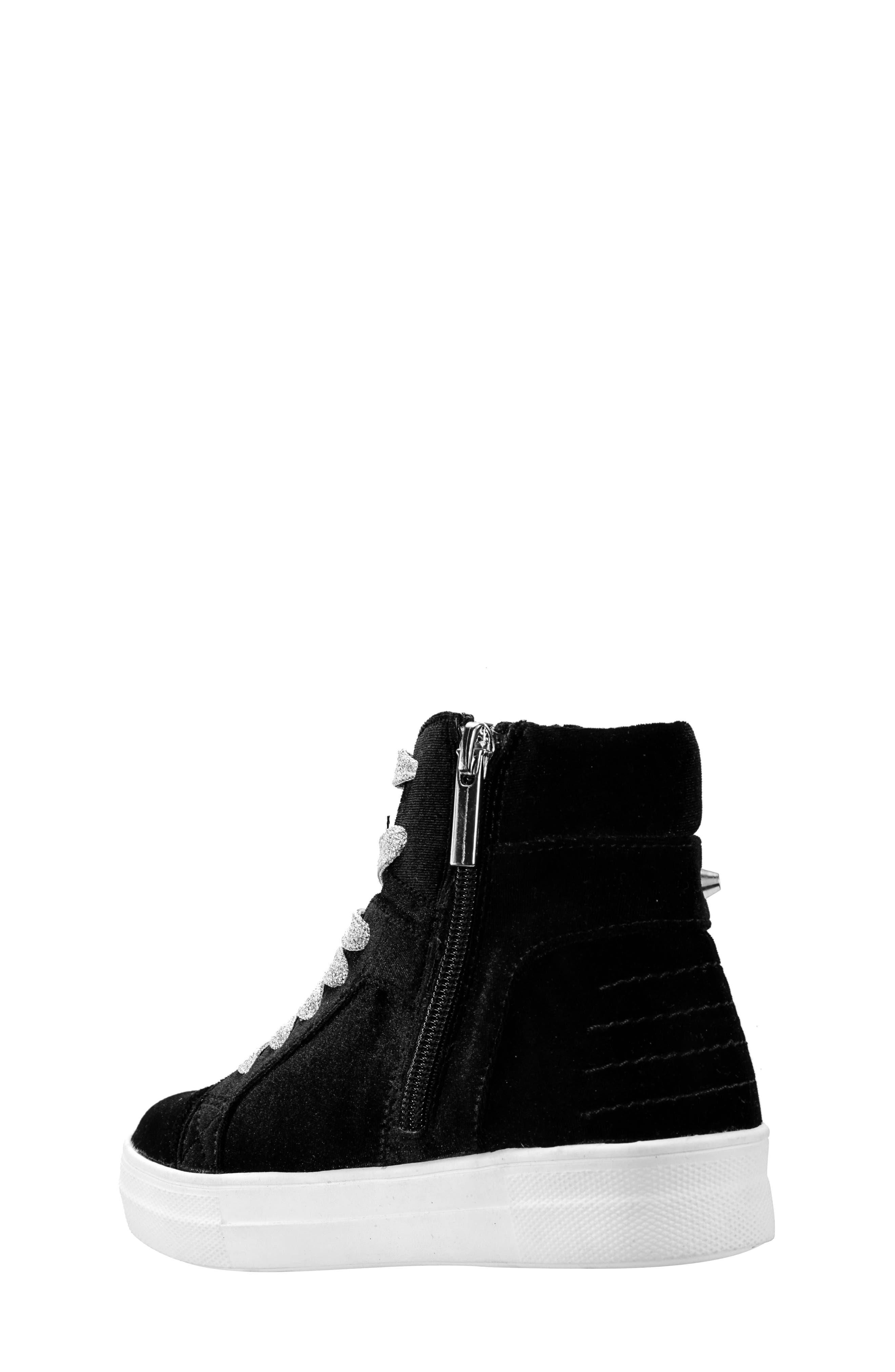 Ima Studded High Top Sneaker,                             Alternate thumbnail 2, color,                             BLACK VELVET
