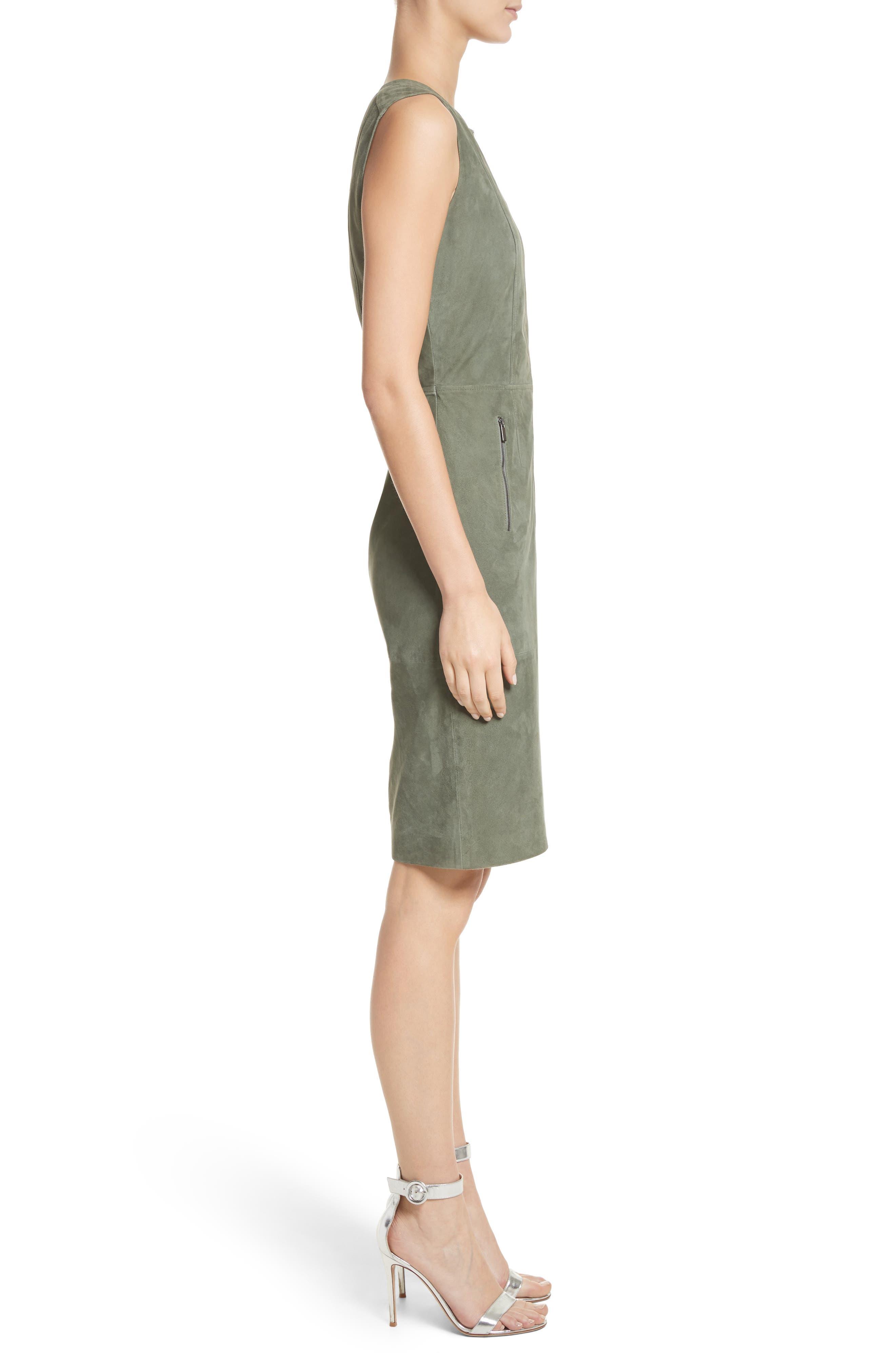 Suede Dress,                             Alternate thumbnail 3, color,                             300