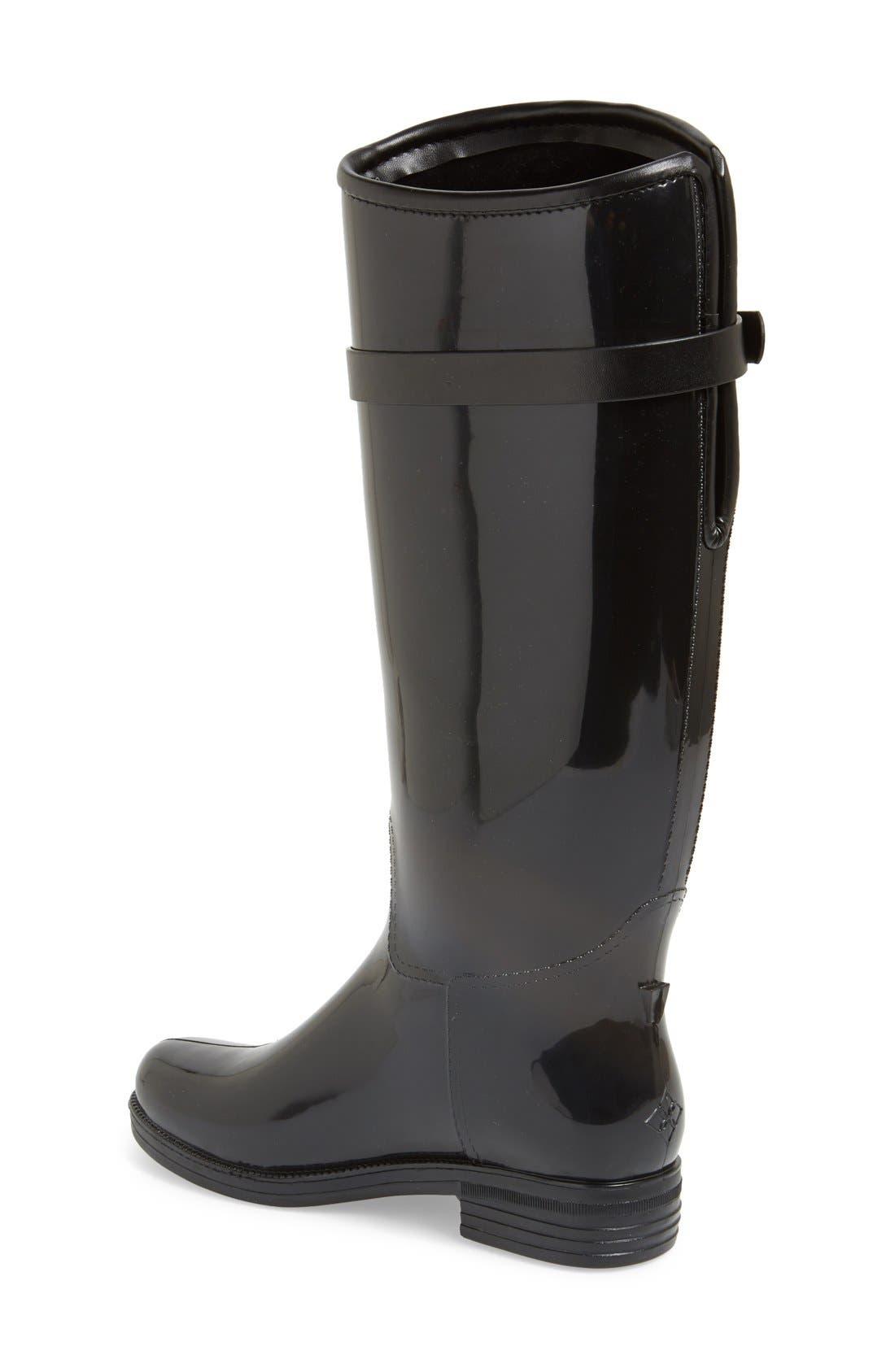 Bristol Weatherproof Knee High Rain Boot,                             Alternate thumbnail 2, color,                             001