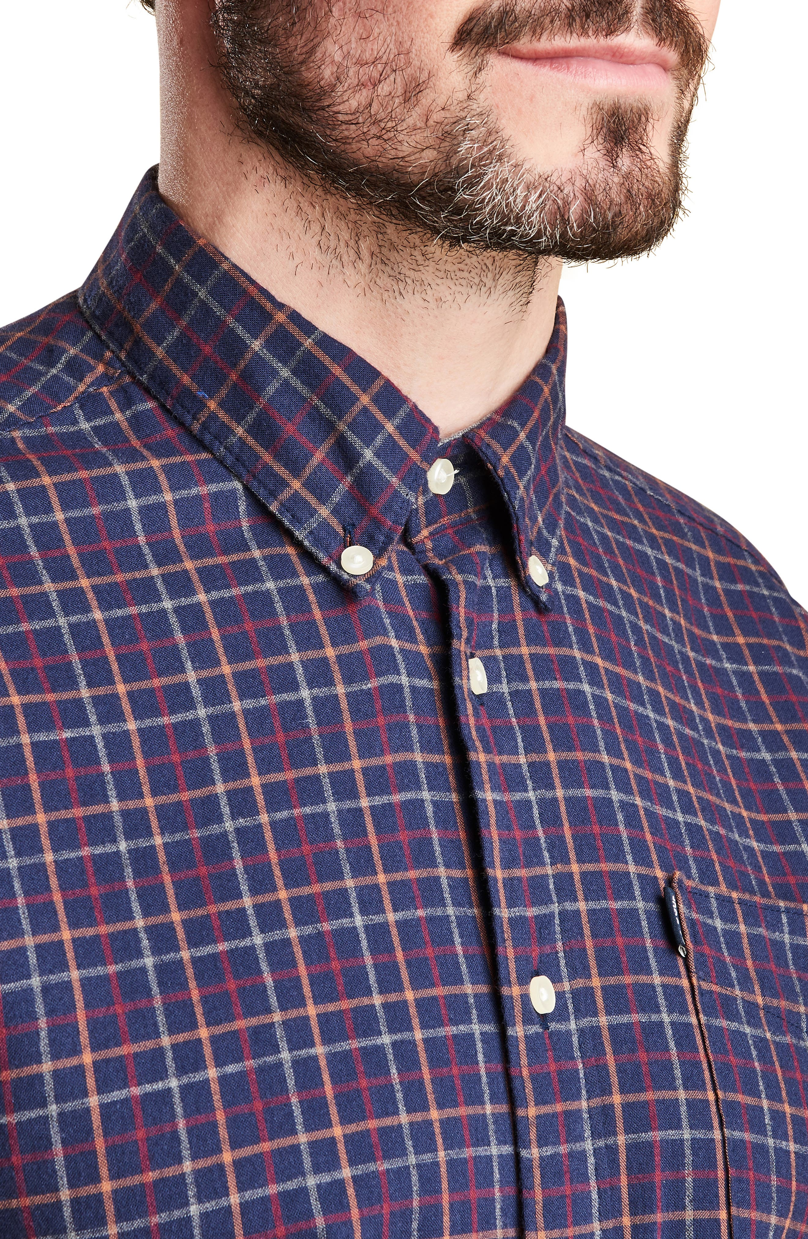 Endsleigh Tattersall Cotton Flannel Shirt,                             Alternate thumbnail 2, color,                             410