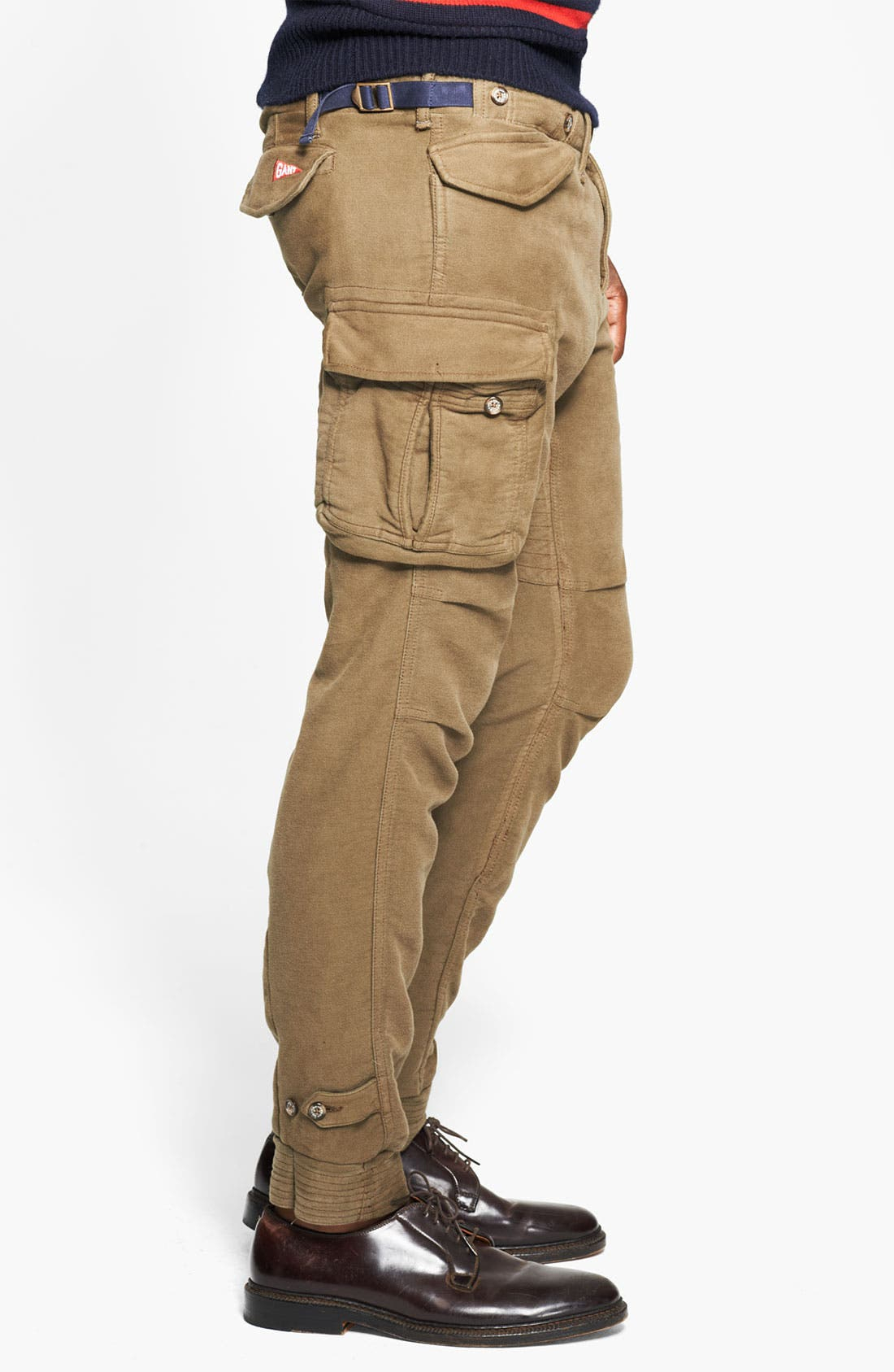 Skinny Moleskin Cotton Cargo Pants,                             Alternate thumbnail 4, color,                             301