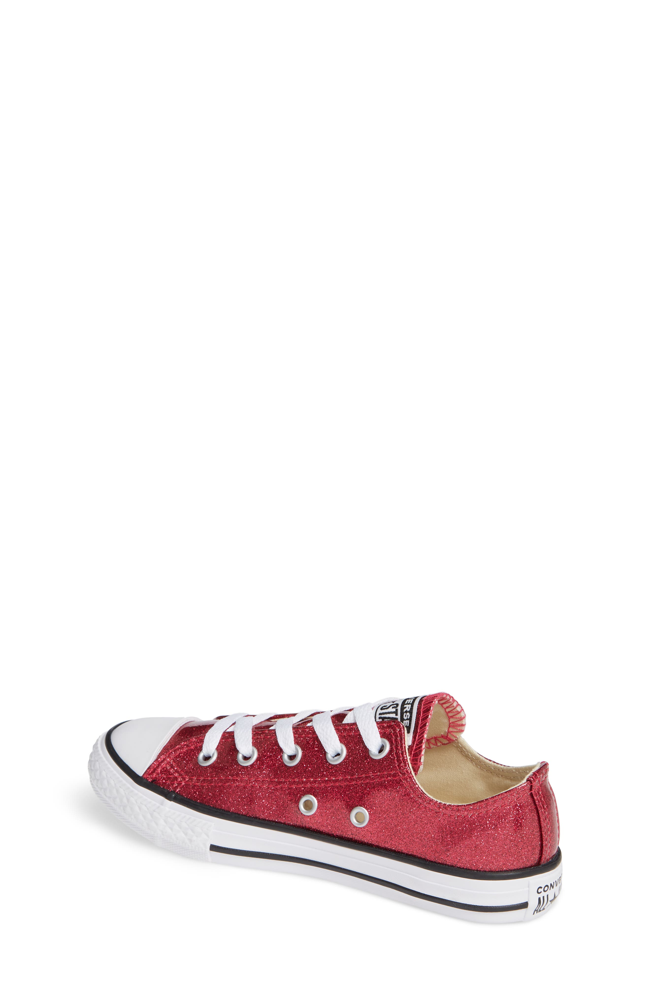 CONVERSE,                             All Star<sup>®</sup> Seasonal Glitter OX Low Top Sneaker,                             Alternate thumbnail 2, color,                             PINK POP