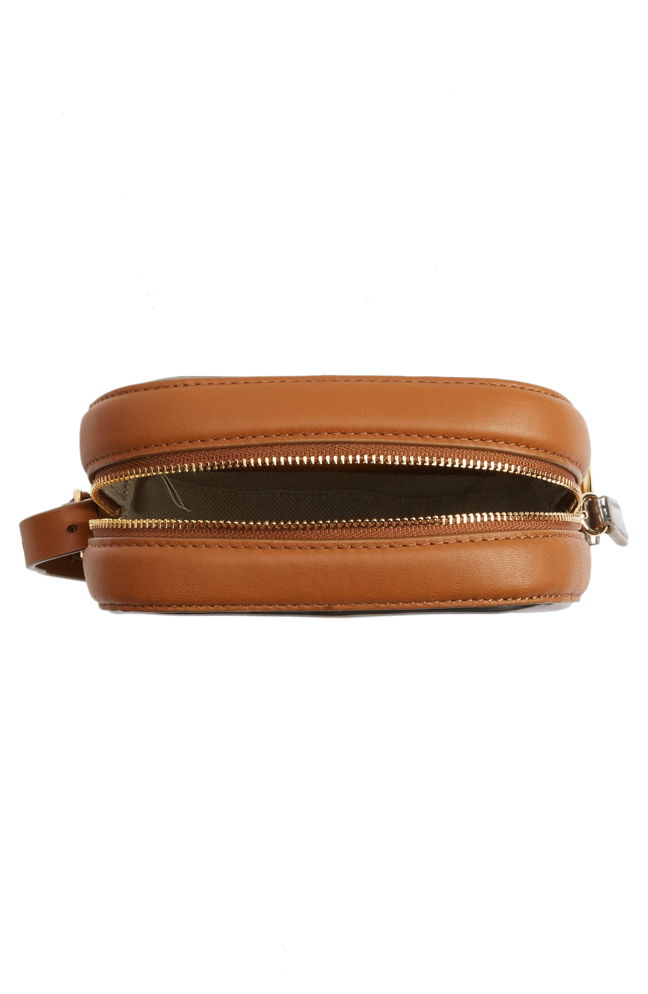 Specchio Leather Camera Bag,                             Alternate thumbnail 4, color,                             040