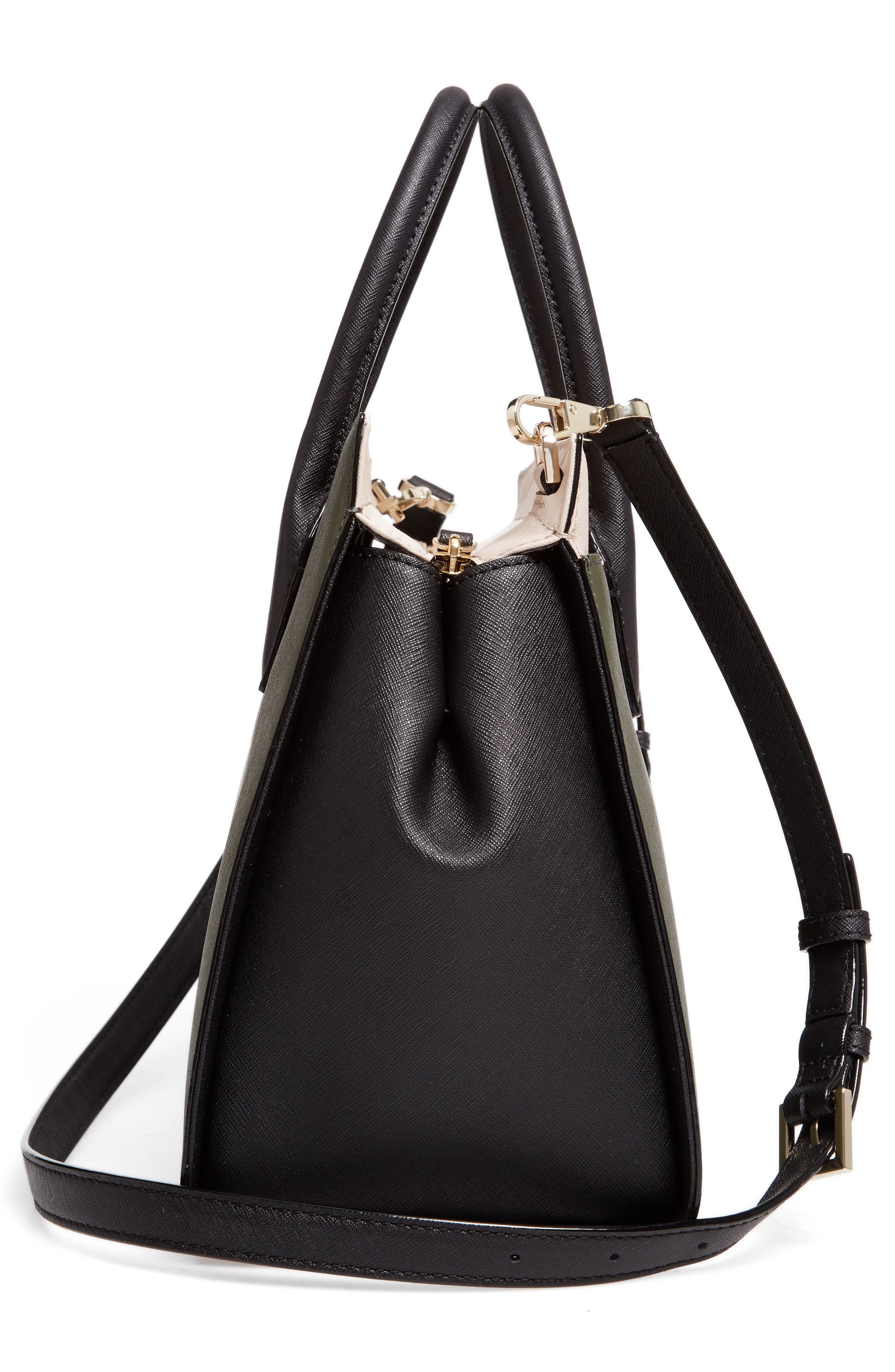 cameron street - candace leather satchel,                             Alternate thumbnail 5, color,                             301
