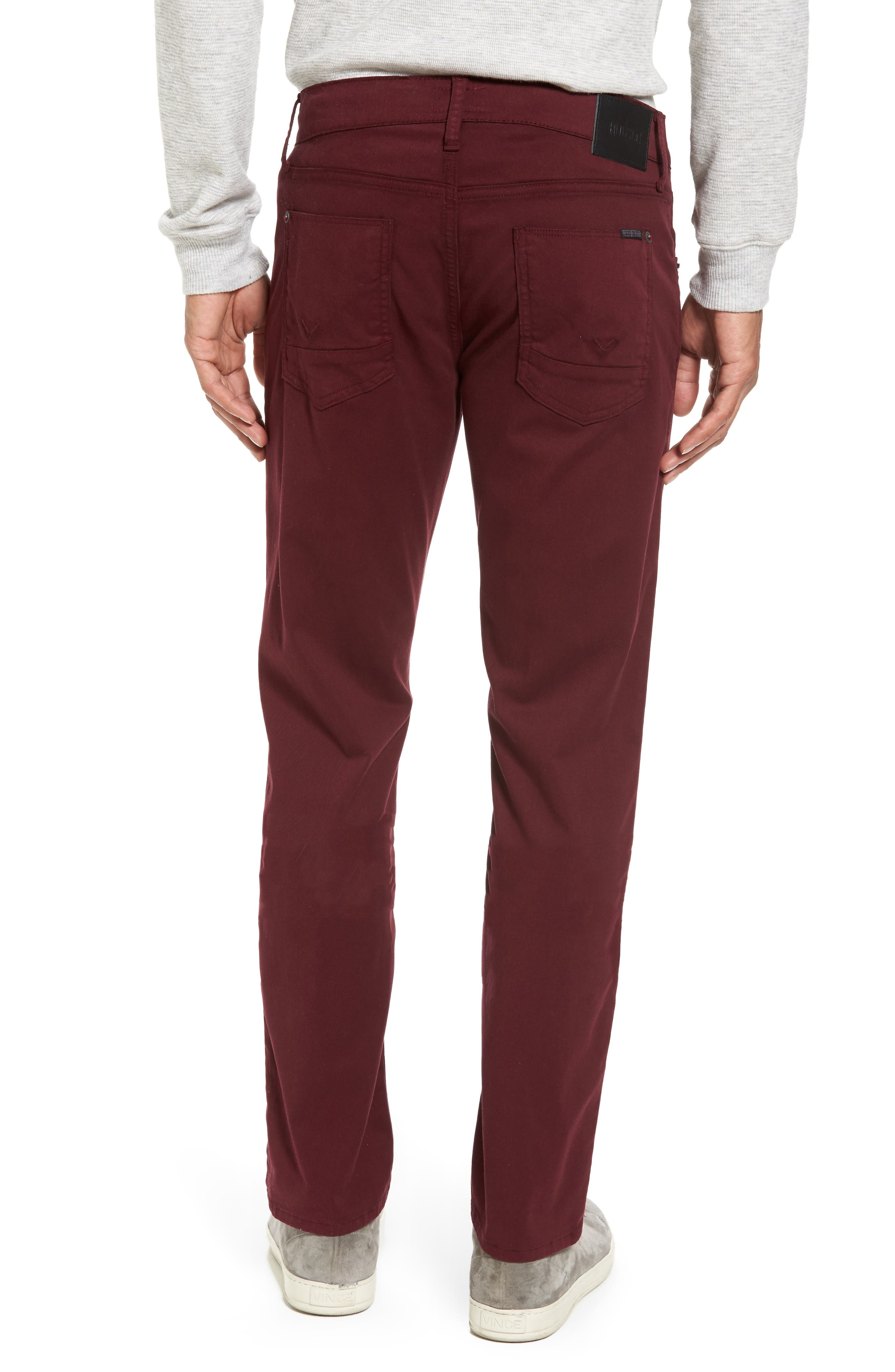 Blake Slim Fit Jeans,                             Alternate thumbnail 2, color,                             BURGUNDY