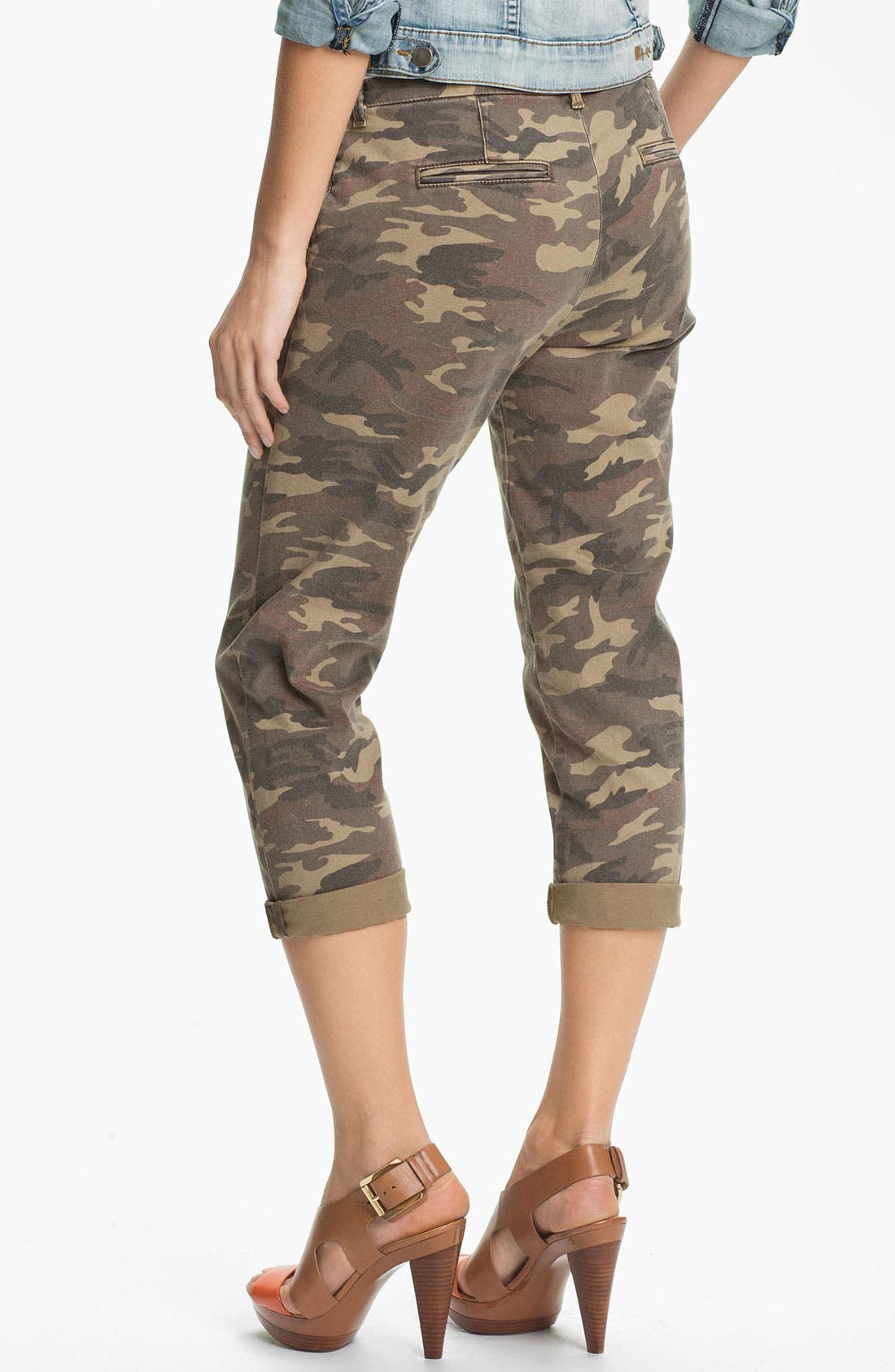 KUT FROM THE KLOTH,                             'Gwen' Camo Crop Pants,                             Alternate thumbnail 5, color,                             300
