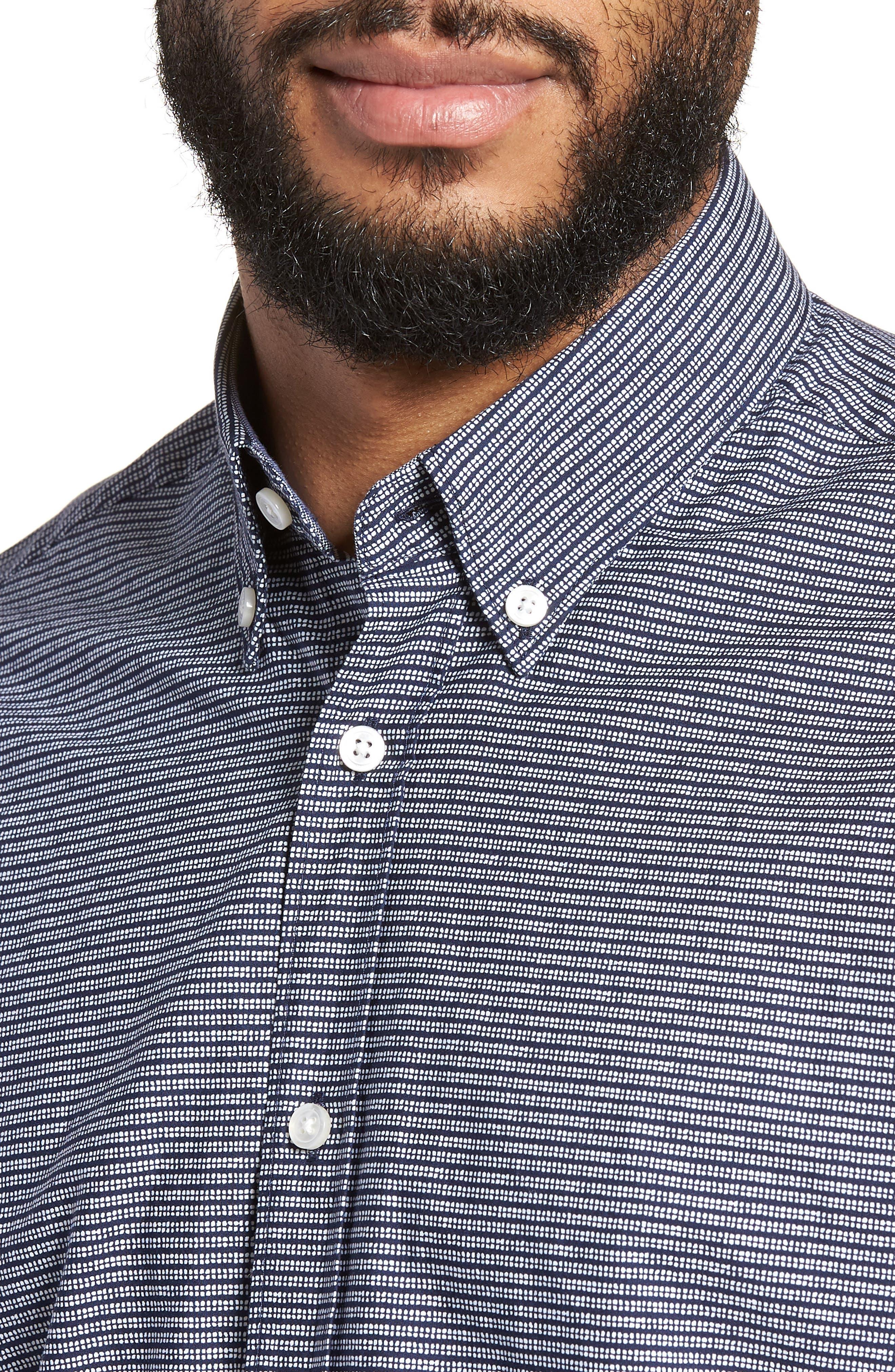 Lodi Stripe Sport Shirt,                             Alternate thumbnail 4, color,                             BLUE