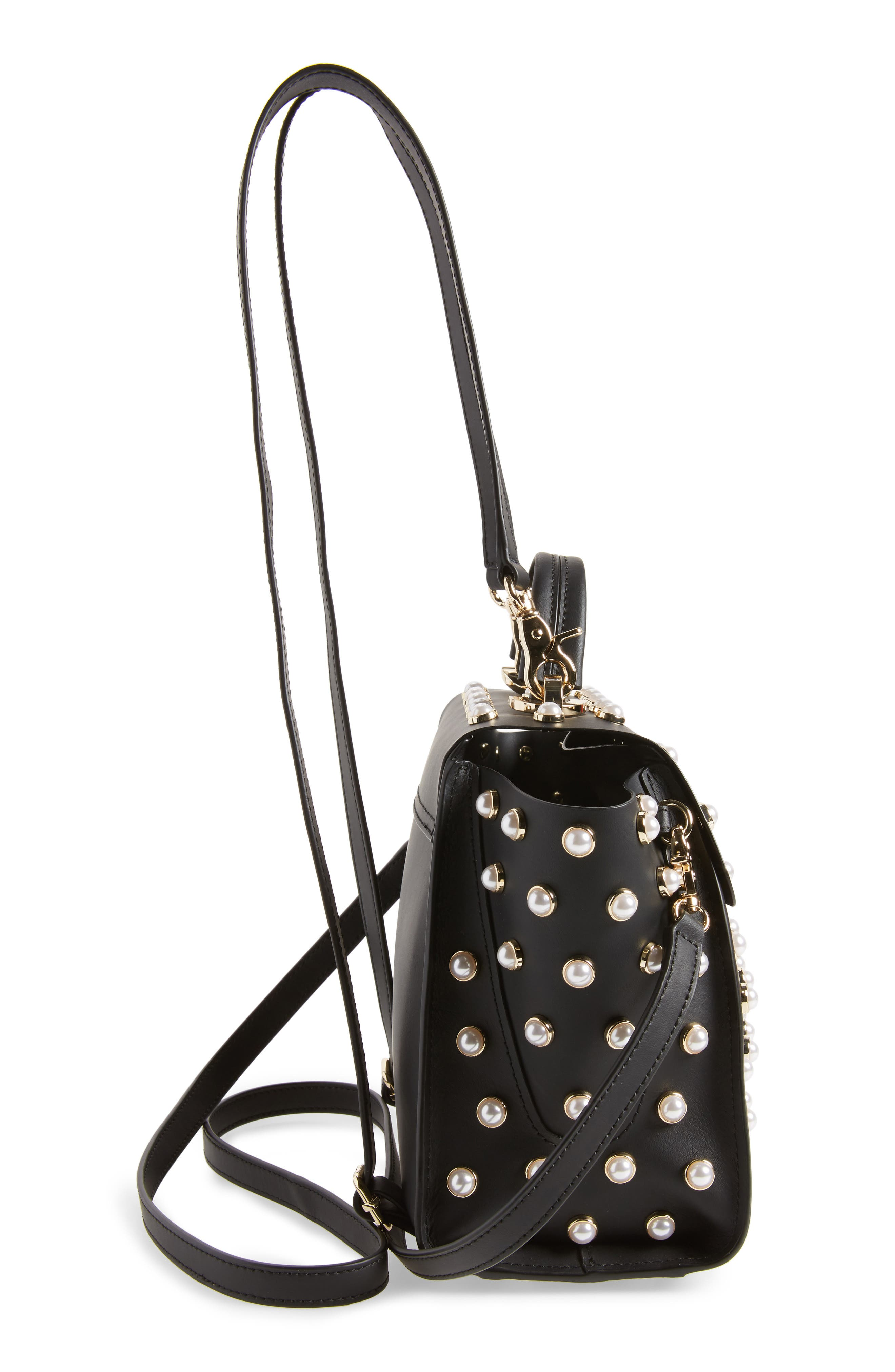 Eartha Iconic Embellished Convertible Leather Backpack,                             Alternate thumbnail 5, color,