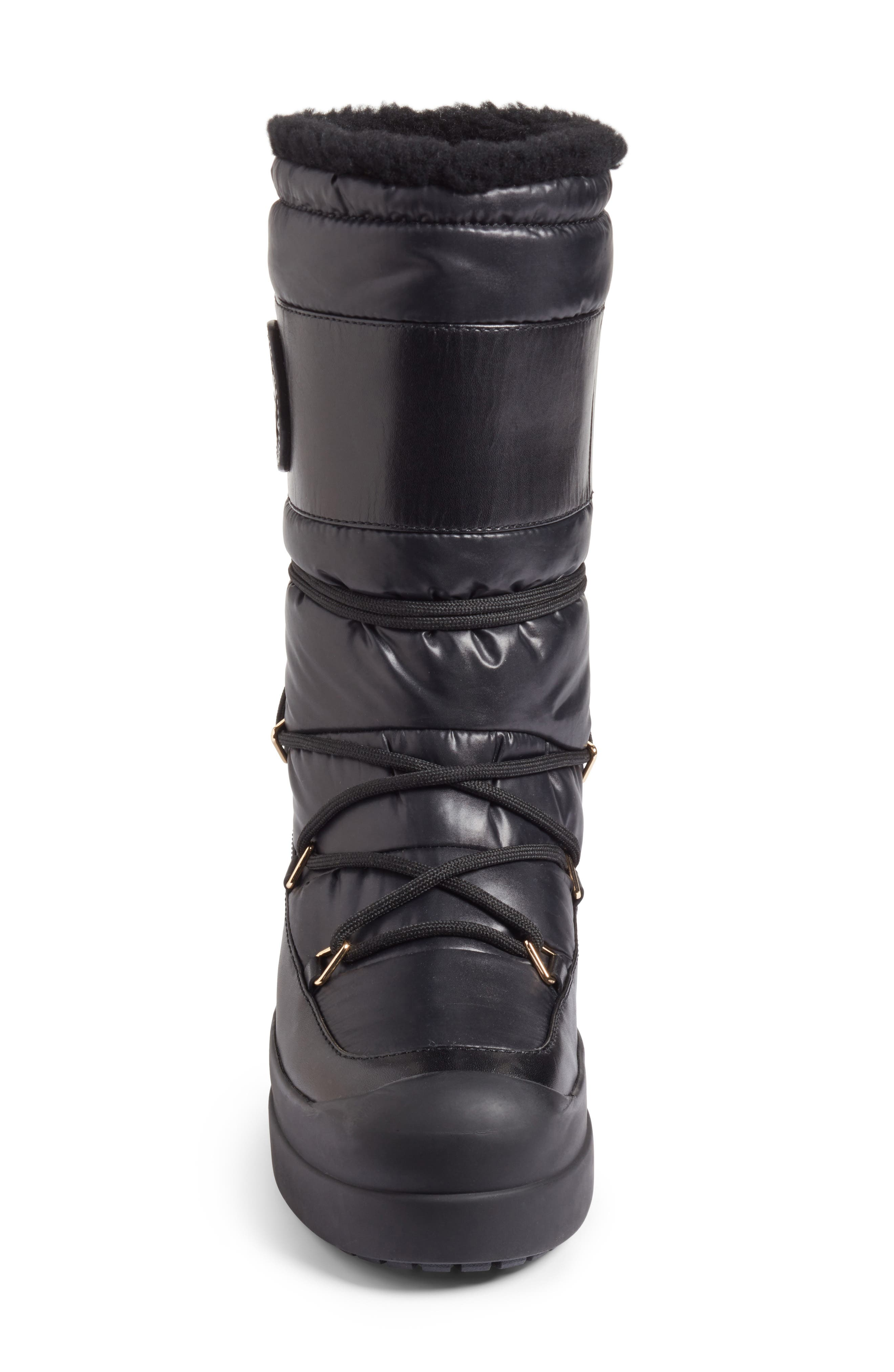 Cliff Genuine Shearling Lined Boot,                             Alternate thumbnail 4, color,