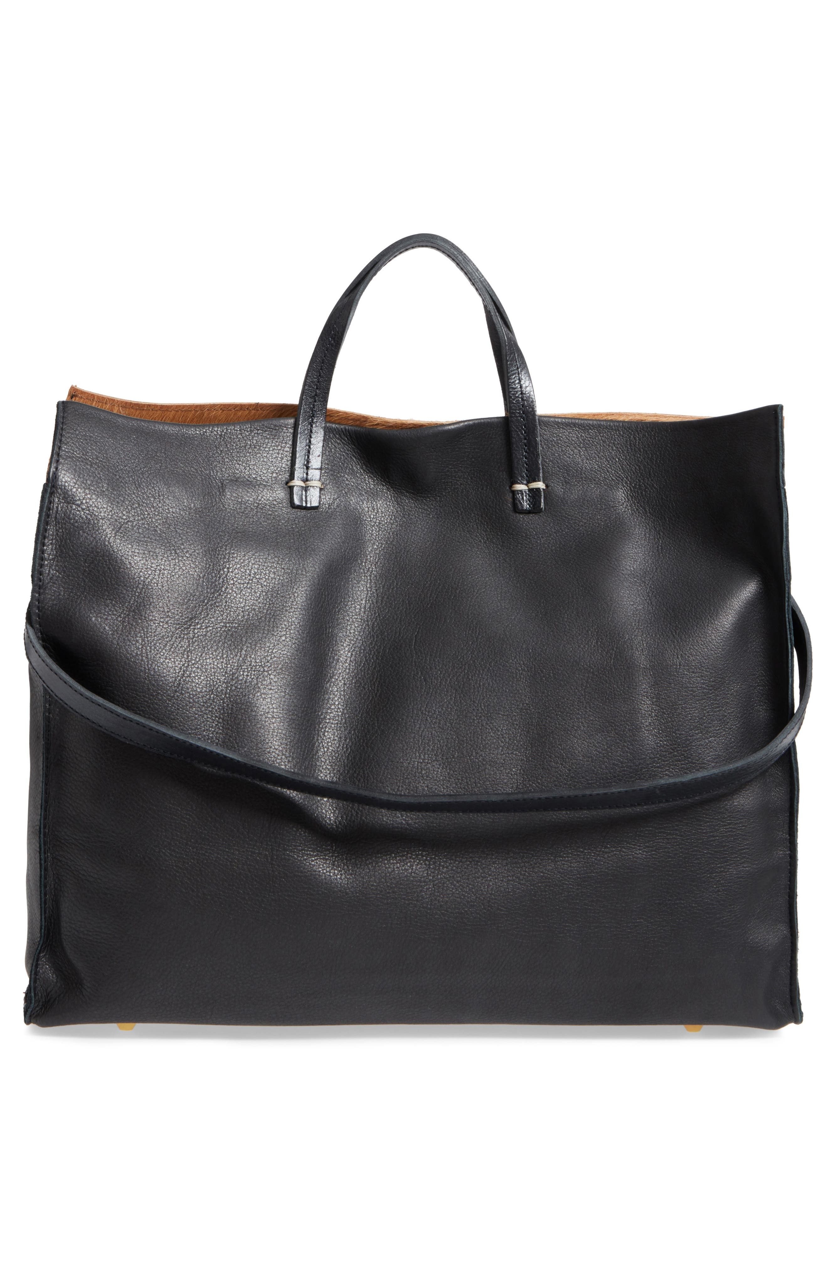 Mini Stripe Simple Genuine Calf Hair & Leather Tote,                             Alternate thumbnail 3, color,                             230