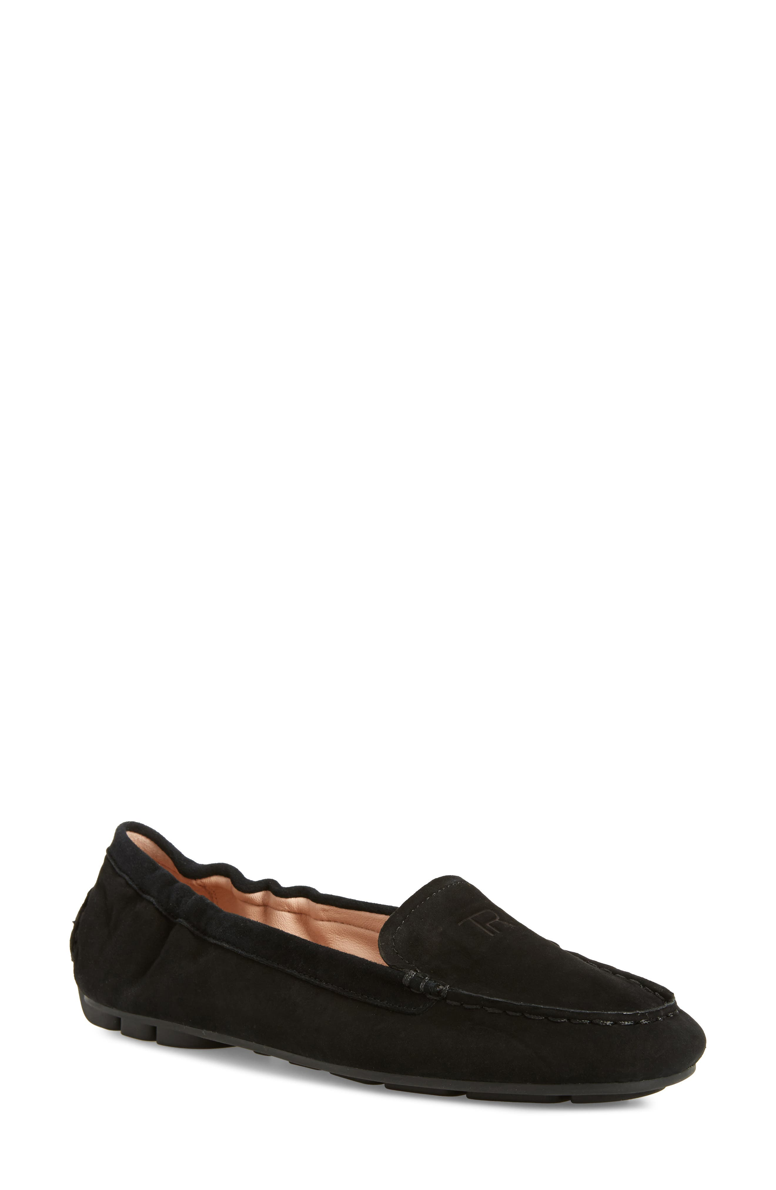 TARYN ROSE,                             Kristine Loafer,                             Main thumbnail 1, color,                             BLACK SUEDE