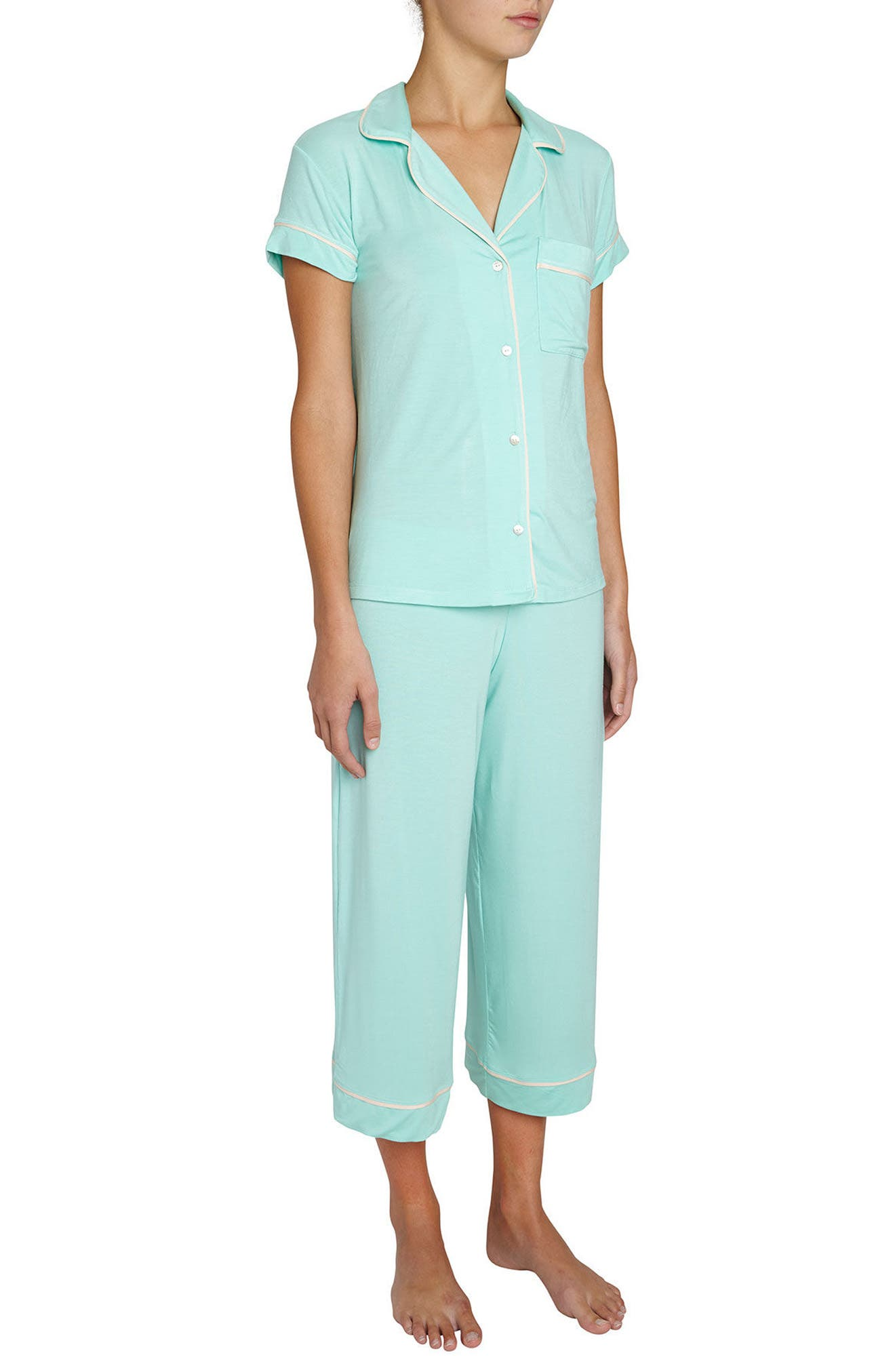 Gisele Crop Pajamas,                             Main thumbnail 4, color,
