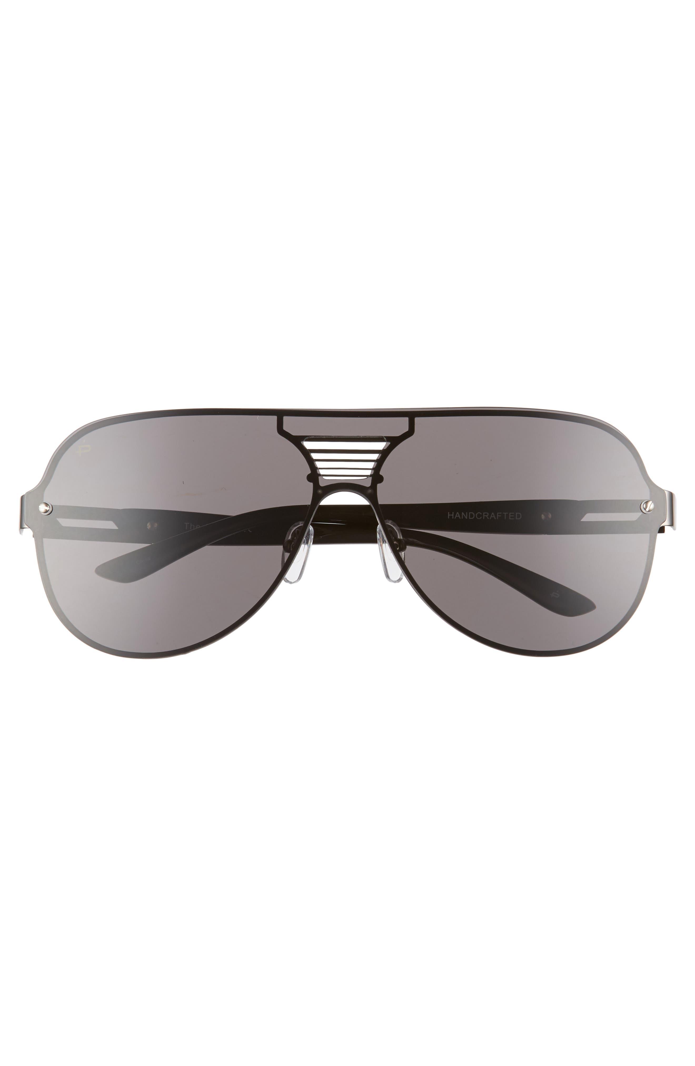 The Hitman 63mm Polarized Oversize Aviator Sunglasses,                             Alternate thumbnail 2, color,                             BLACK