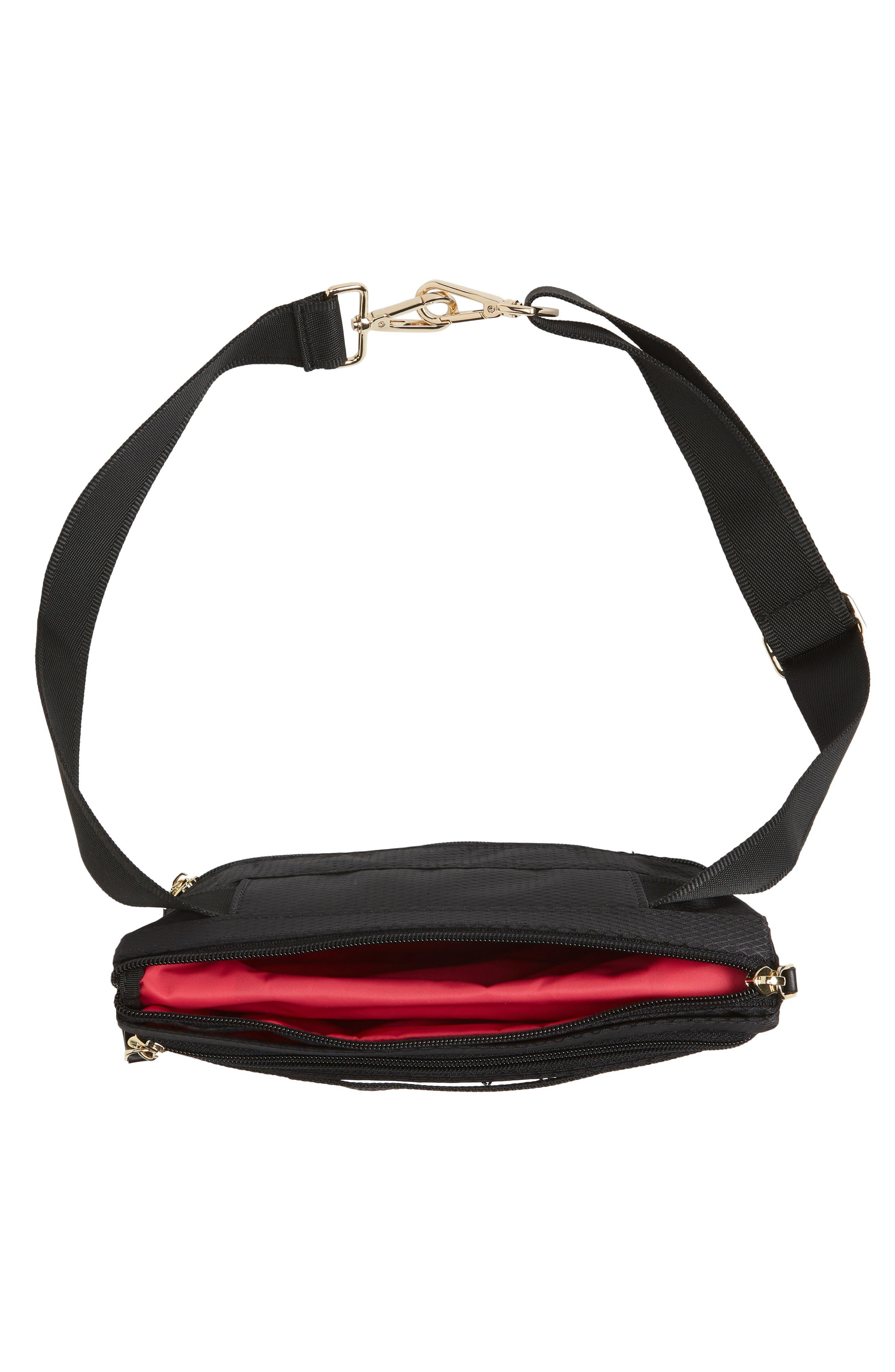 Go Black Expandable Belt Bag,                             Alternate thumbnail 6, color,                             BLACK