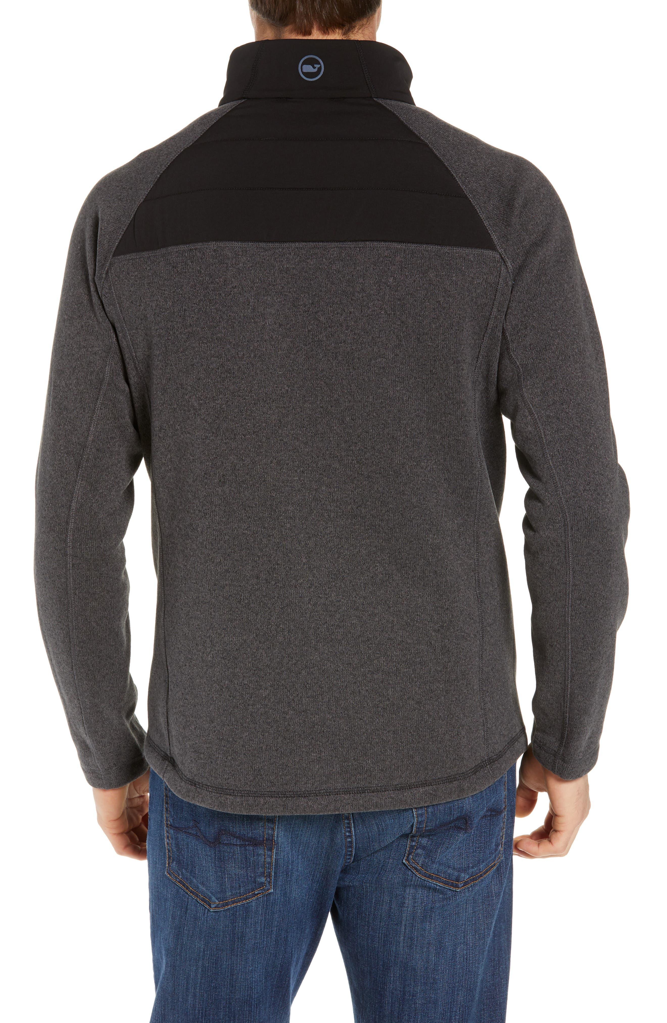 Seaward Fleece Half Zip Pullover,                             Alternate thumbnail 2, color,                             NOCTURNE