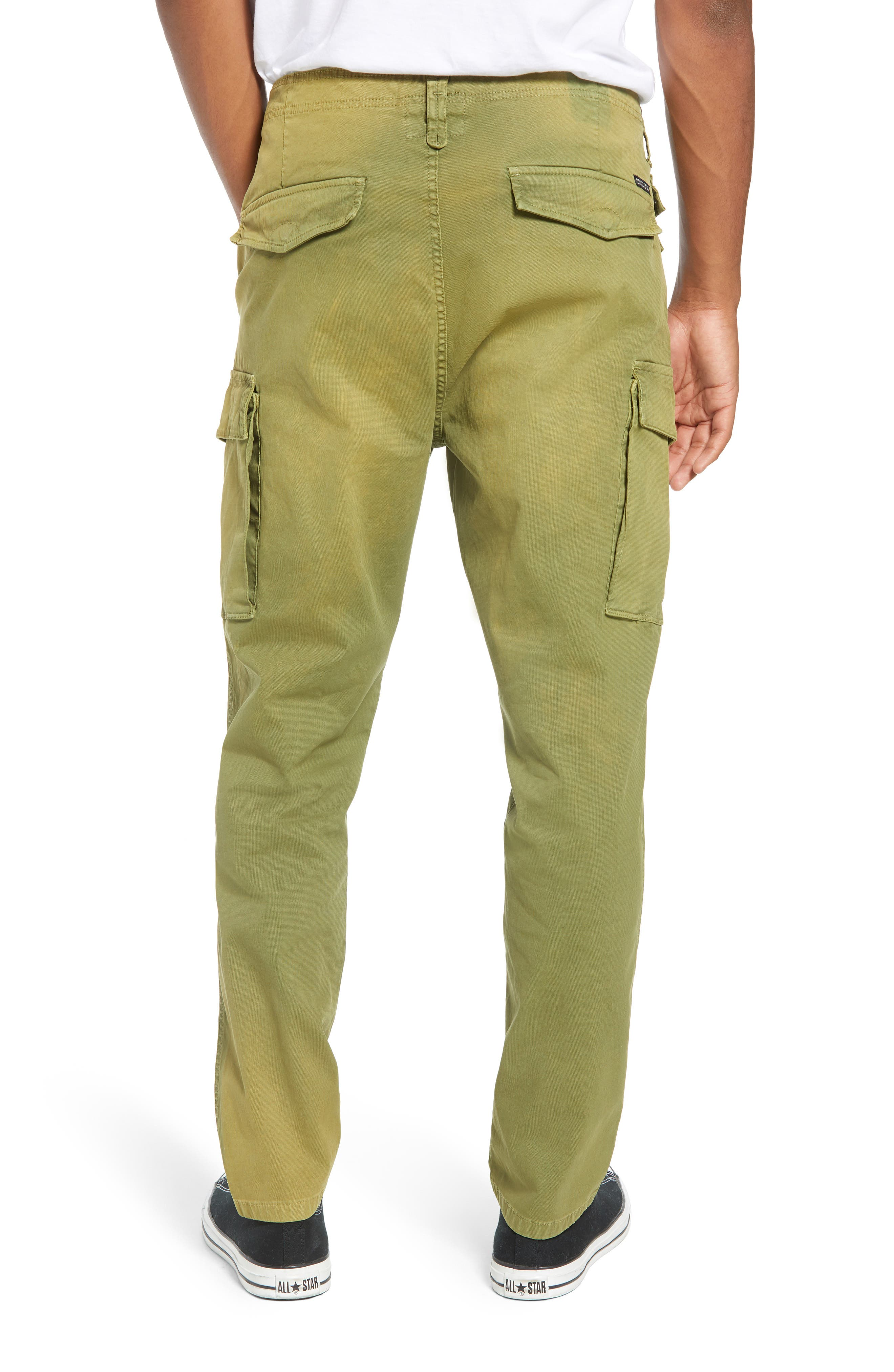 SCOTCH & SODA,                             Loose Taper Fit Washed Cargo Pants,                             Alternate thumbnail 2, color,                             MILITARY